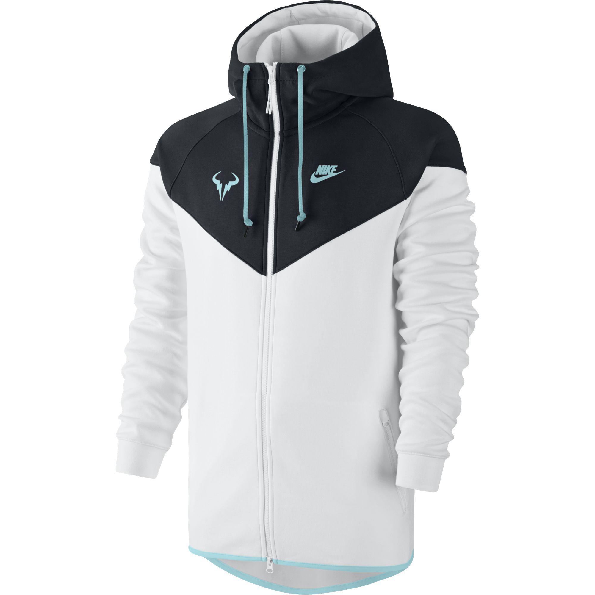 667d56147846 Nike Mens Premier Rafa Jacket - Black White - Tennisnuts.com