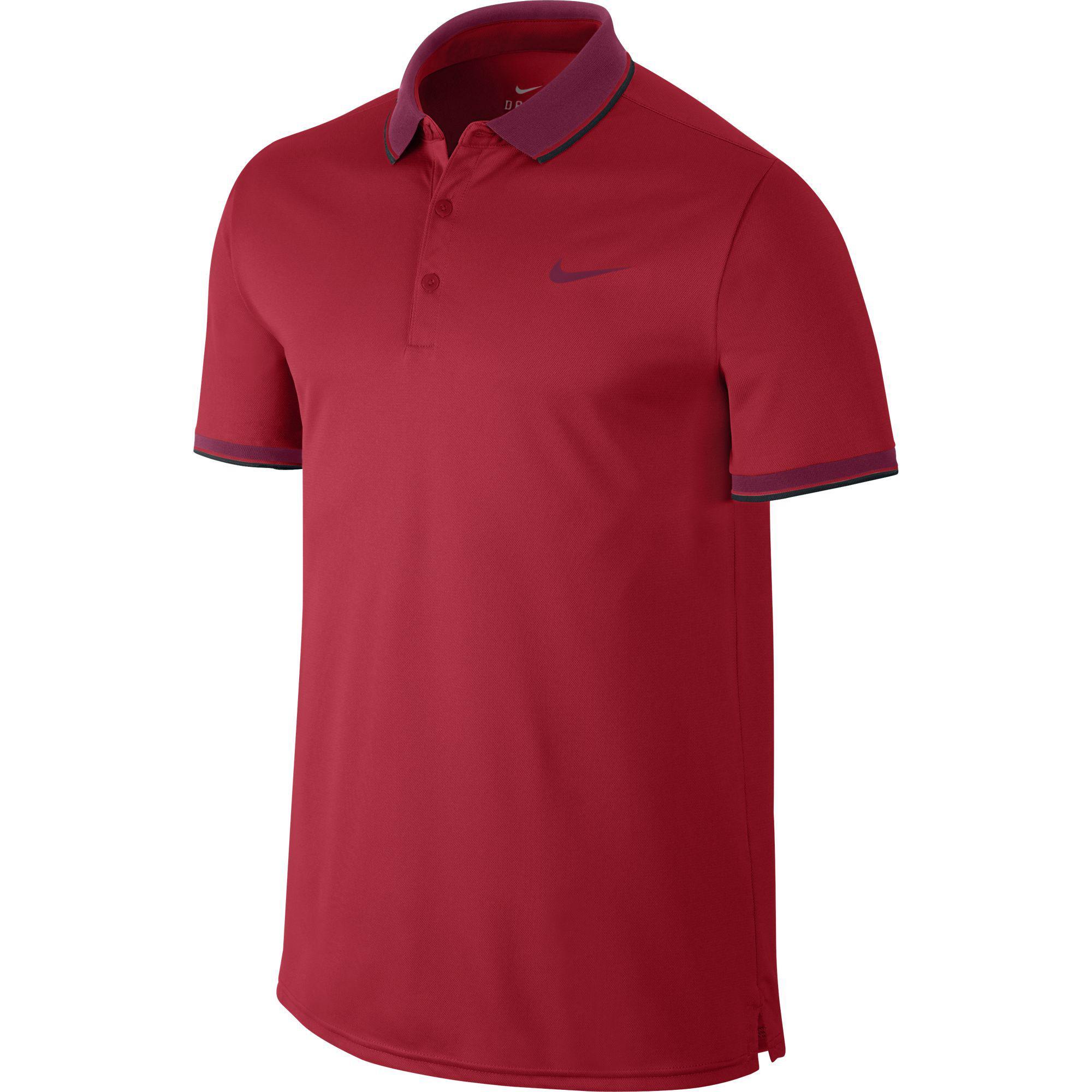 7a15f9f59 Nike Mens Court Tennis Polo - University Red - Tennisnuts.com