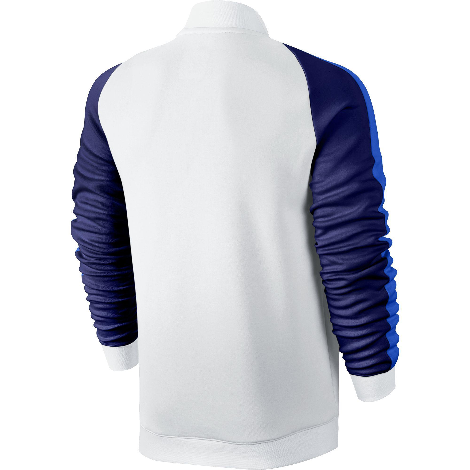 608b7f620ed5 Nike Mens Premier RF Jacket - White Blue - Tennisnuts.com