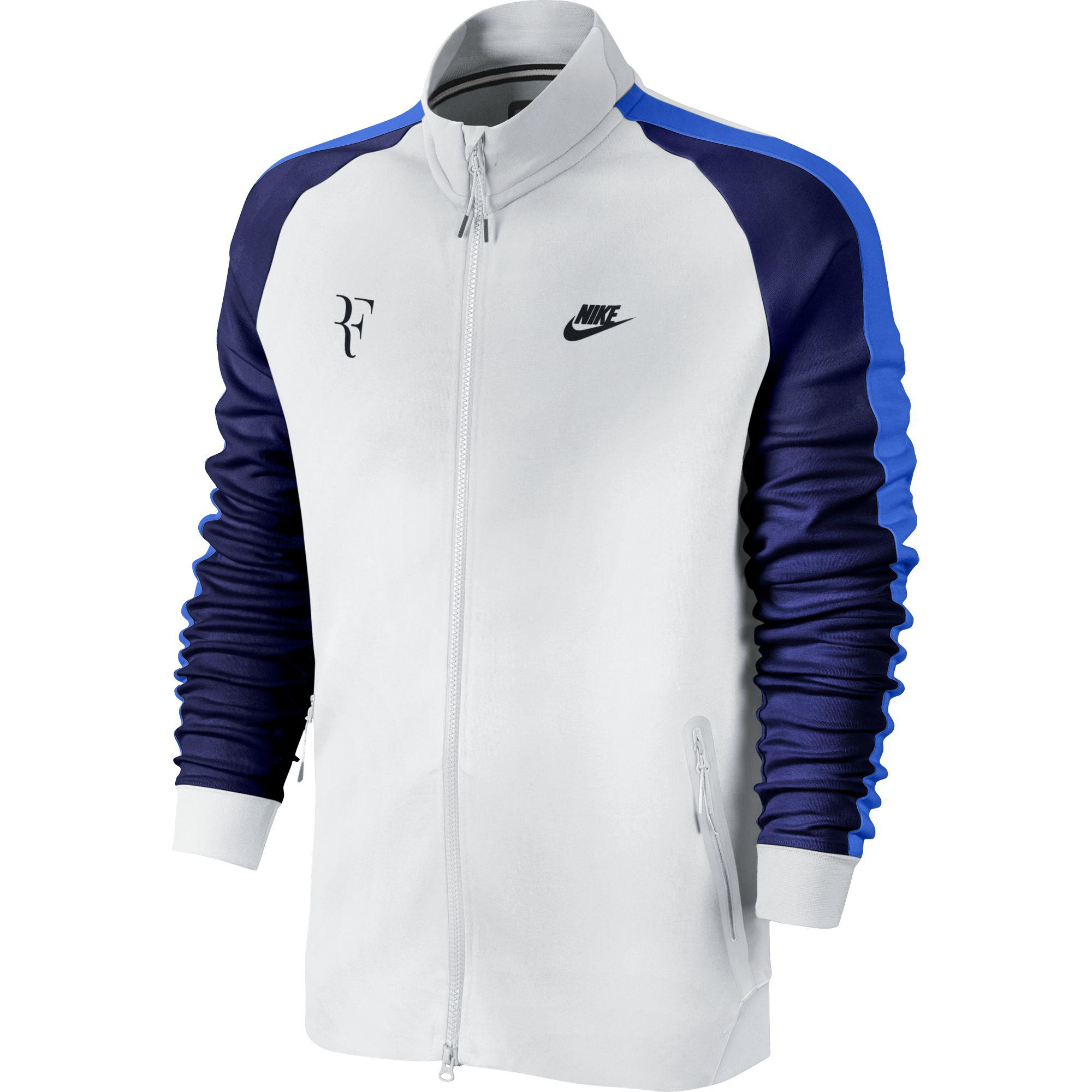 Nike Mens Premier RF Jacket - White/Blue