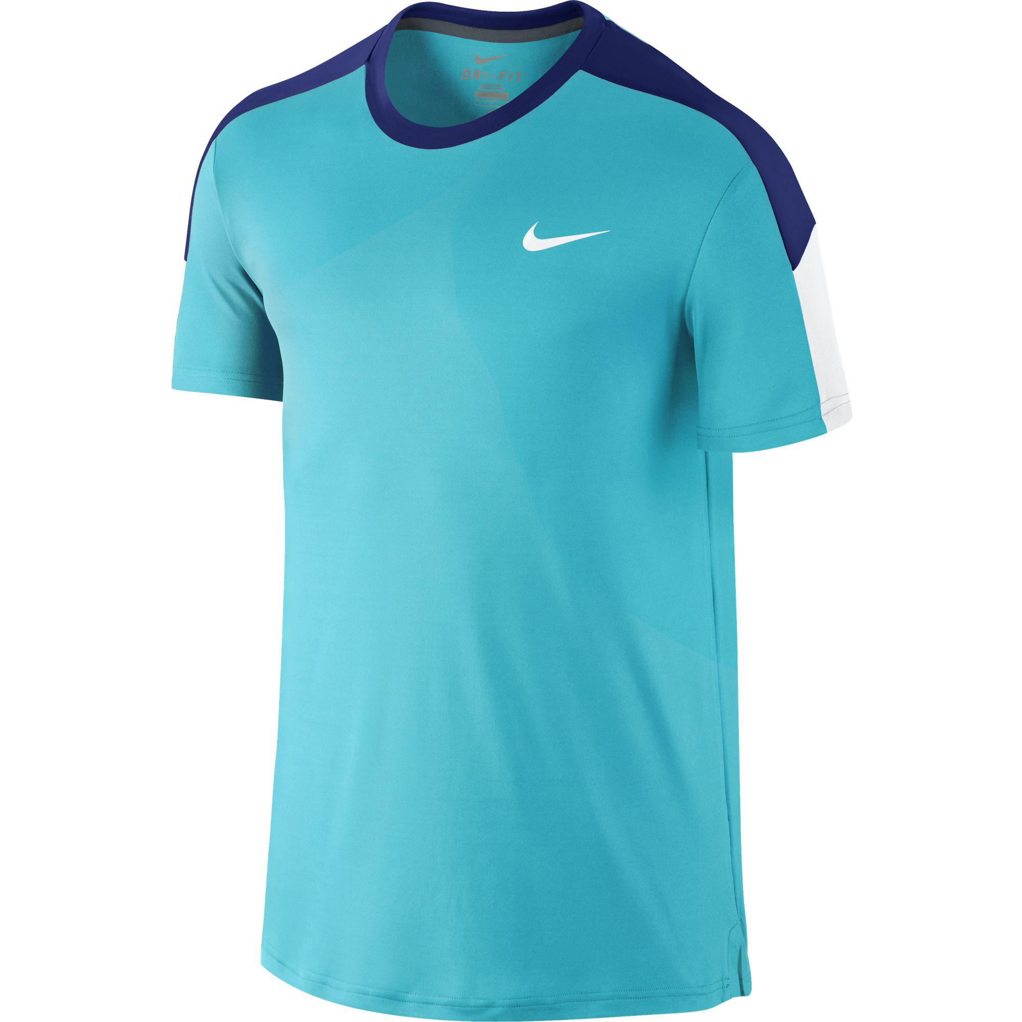 Nike Mens Team Court Crew - Omega Blue/Deep Royal Blue