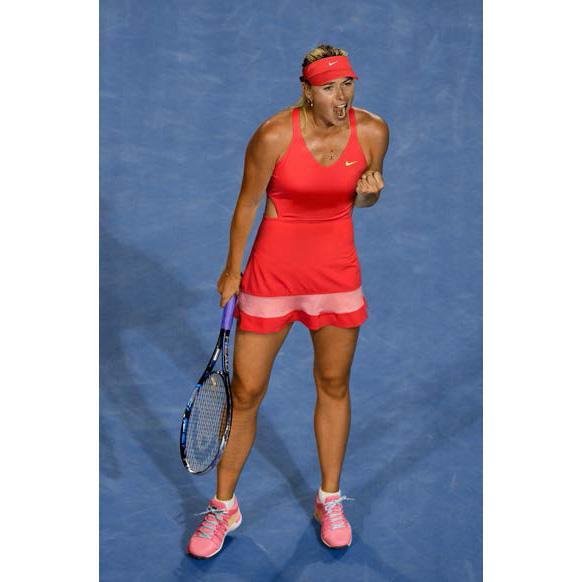 Nike Womens Premier Maria Dress - Daring Red/Bright Peach