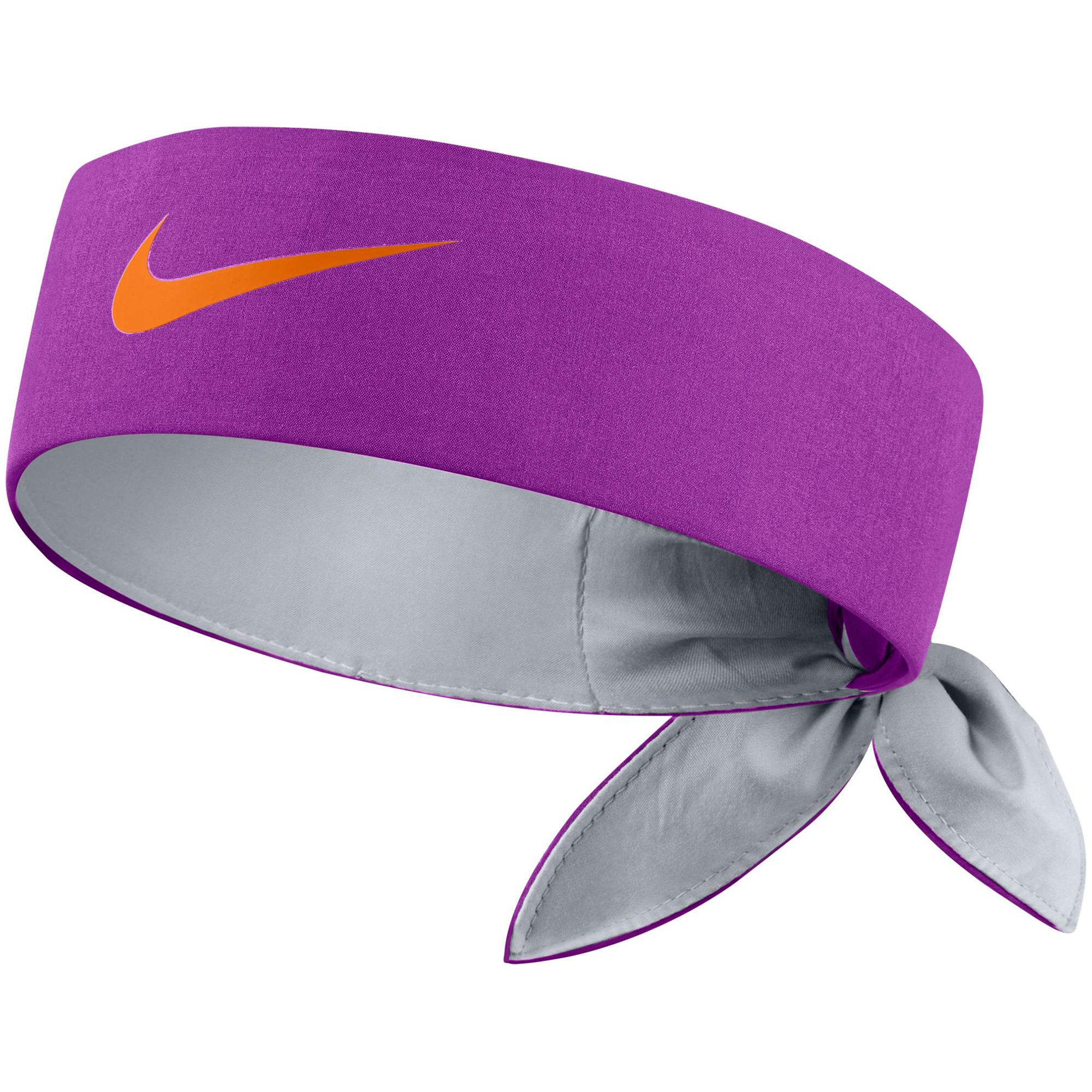 NikeCourt Headband 646191584 Vivid Purple Wolf Grey Tart 280057