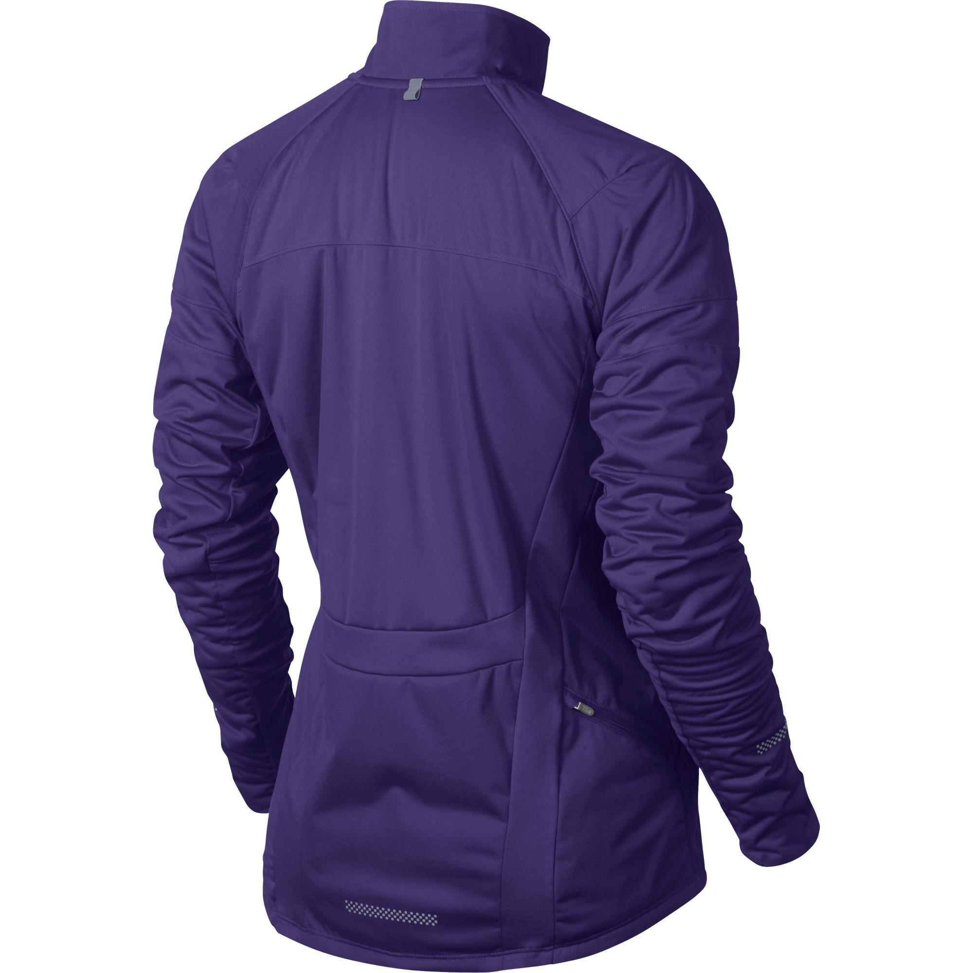 0c8ff1d30da7 Nike Womens Element Shield FZ Jacket - Court Purple Reflective Silver