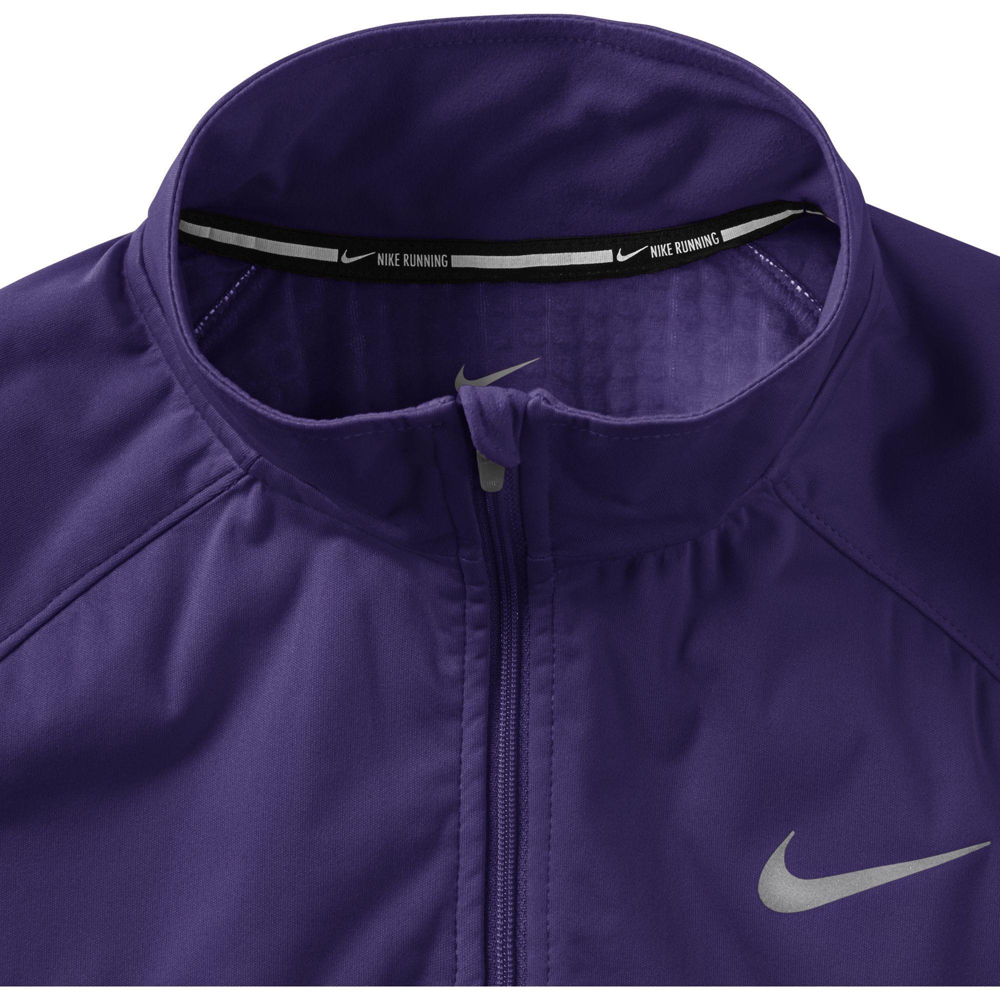 b0f8194b5f9e Nike Womens Element Shield FZ Jacket - Court Purple Reflective Silver