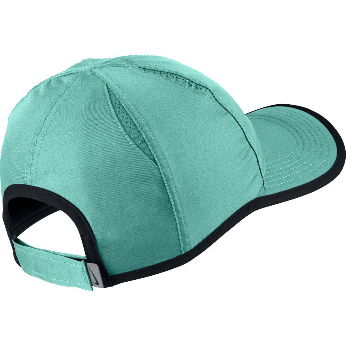 22198a2113f2c Nike Feather Light Adjustable Cap - Light Retro Black - Tennisnuts.com