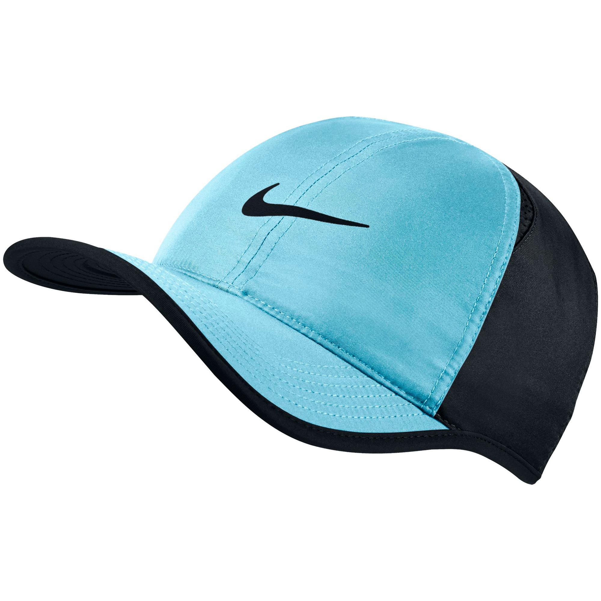 7725267f976 Nike Feather Light Adjustable Cap - Sky Blue Black - Tennisnuts.com