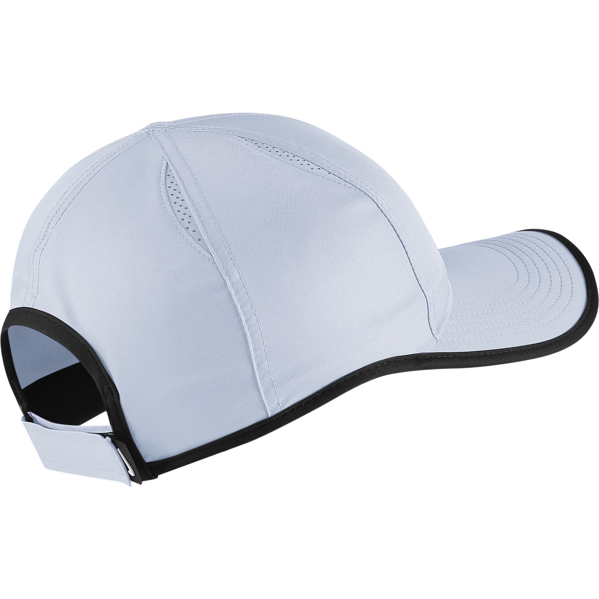 018d35555bf ... coupon code nike featherlight adjustable cap half blue black ca57e f3cce