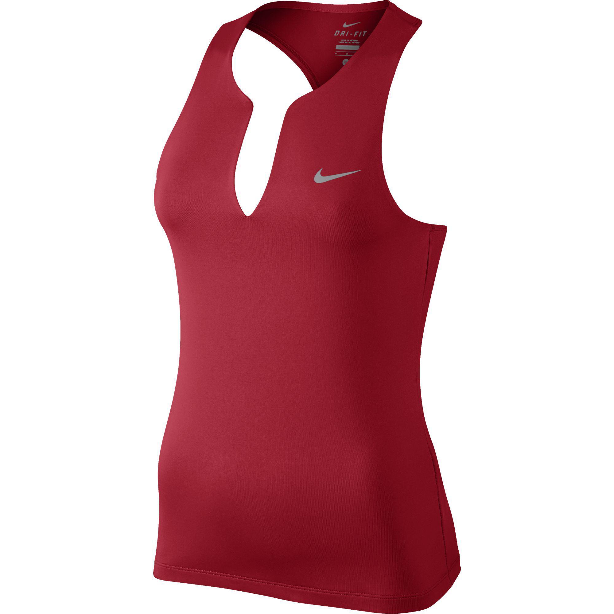 Nike Womens Pure Tennis Tank Top - University Red - Tennisnuts.com d5646c636