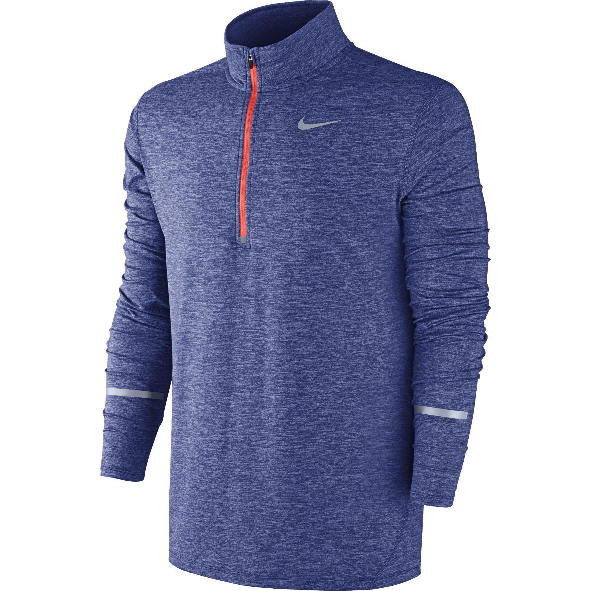 b6094a2181ffd Nike Mens Dri-FIT Element Half-Zip Top - Deep Royal Blue