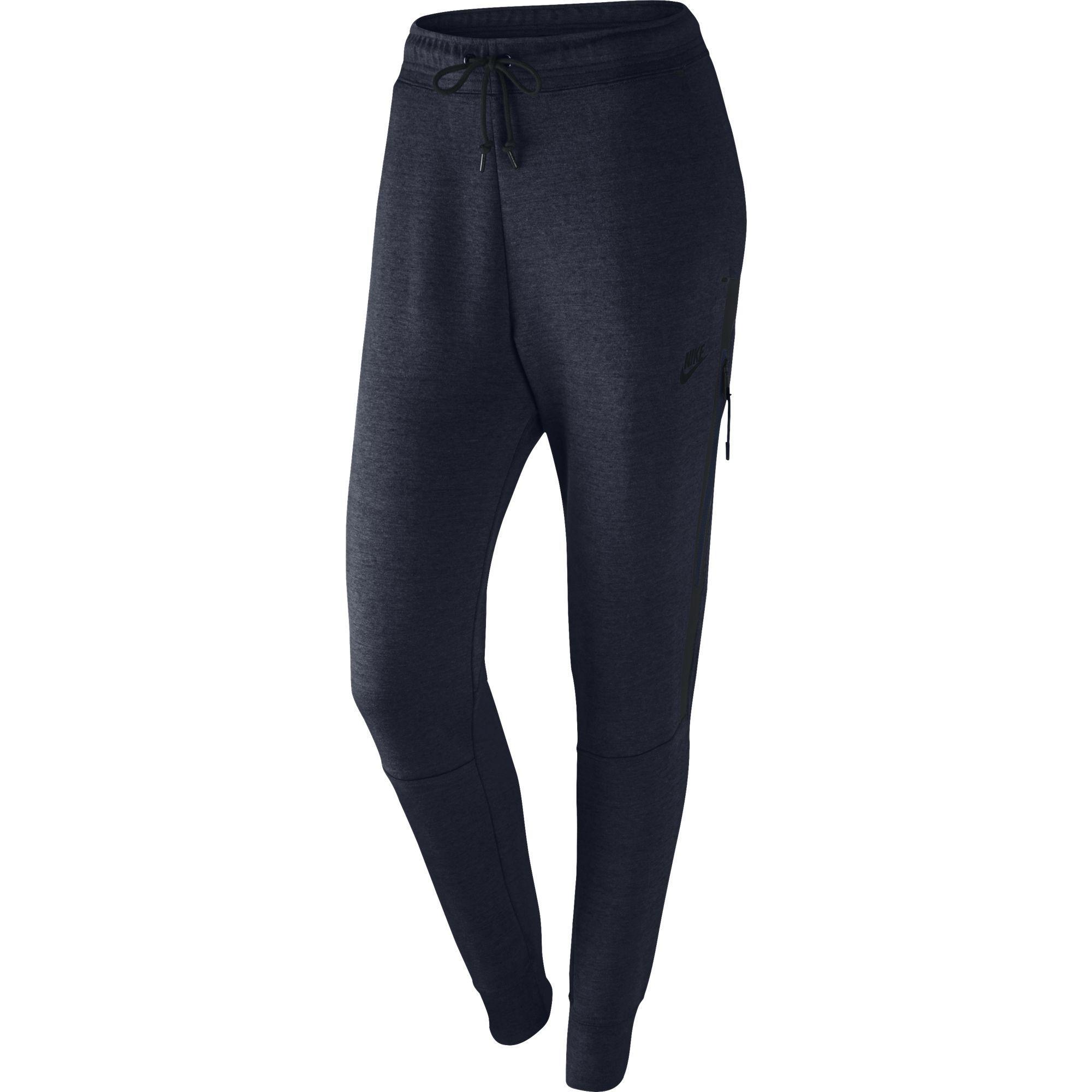 Nike Womens Tech Fleece Pants - Obsidian Heather/Obsidian/Black