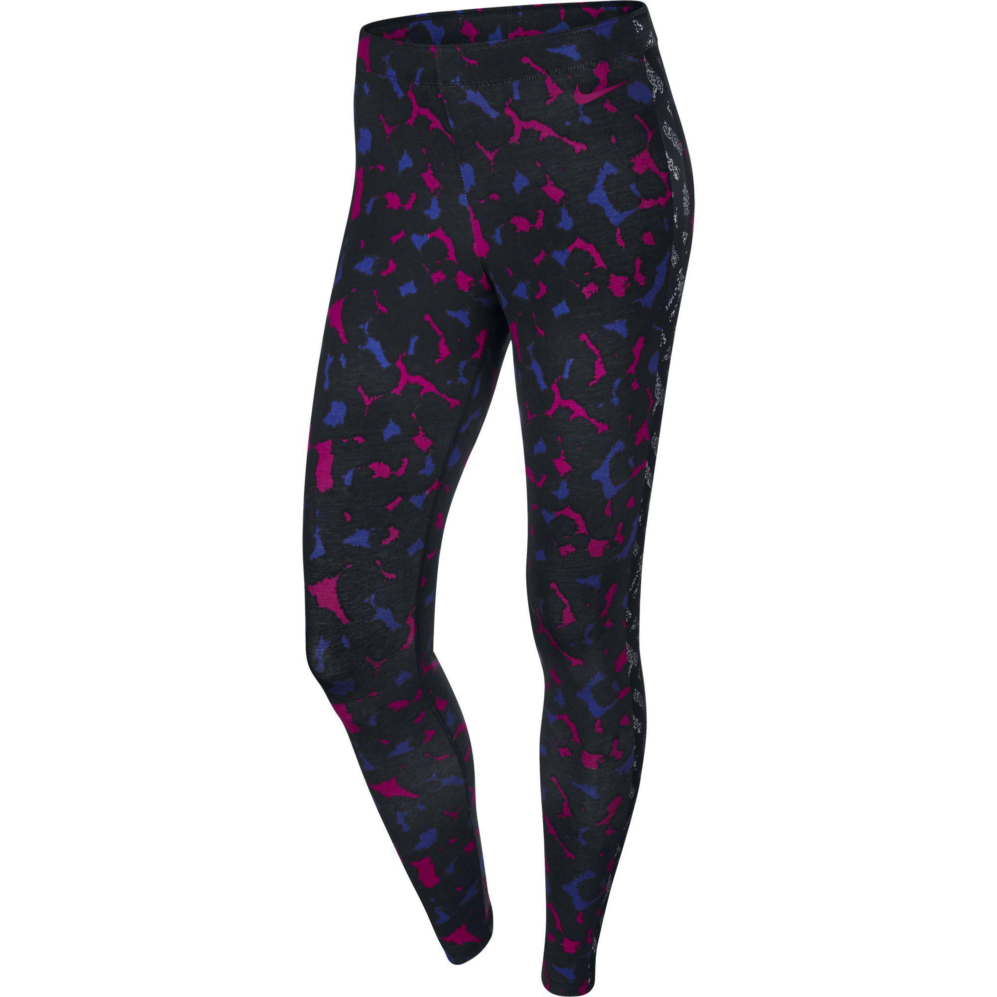 nike womens club printed leggings sport fuchsia. Black Bedroom Furniture Sets. Home Design Ideas