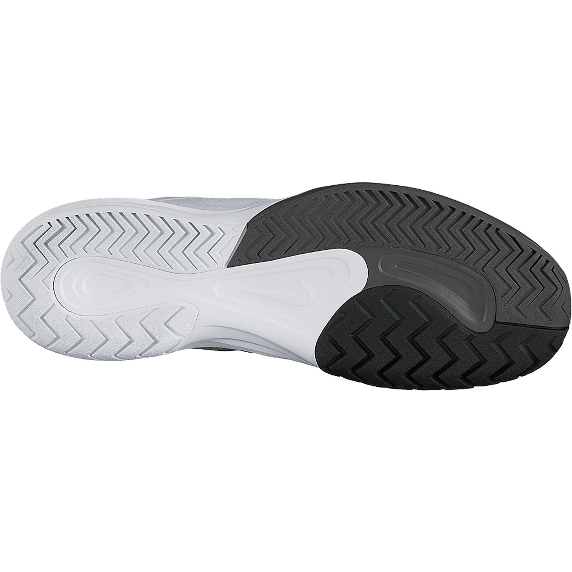 Nike Mens Dual Fusion Ballistec Advantage Tennis Shoes - White Medium Ash  Black 0c567e0b12