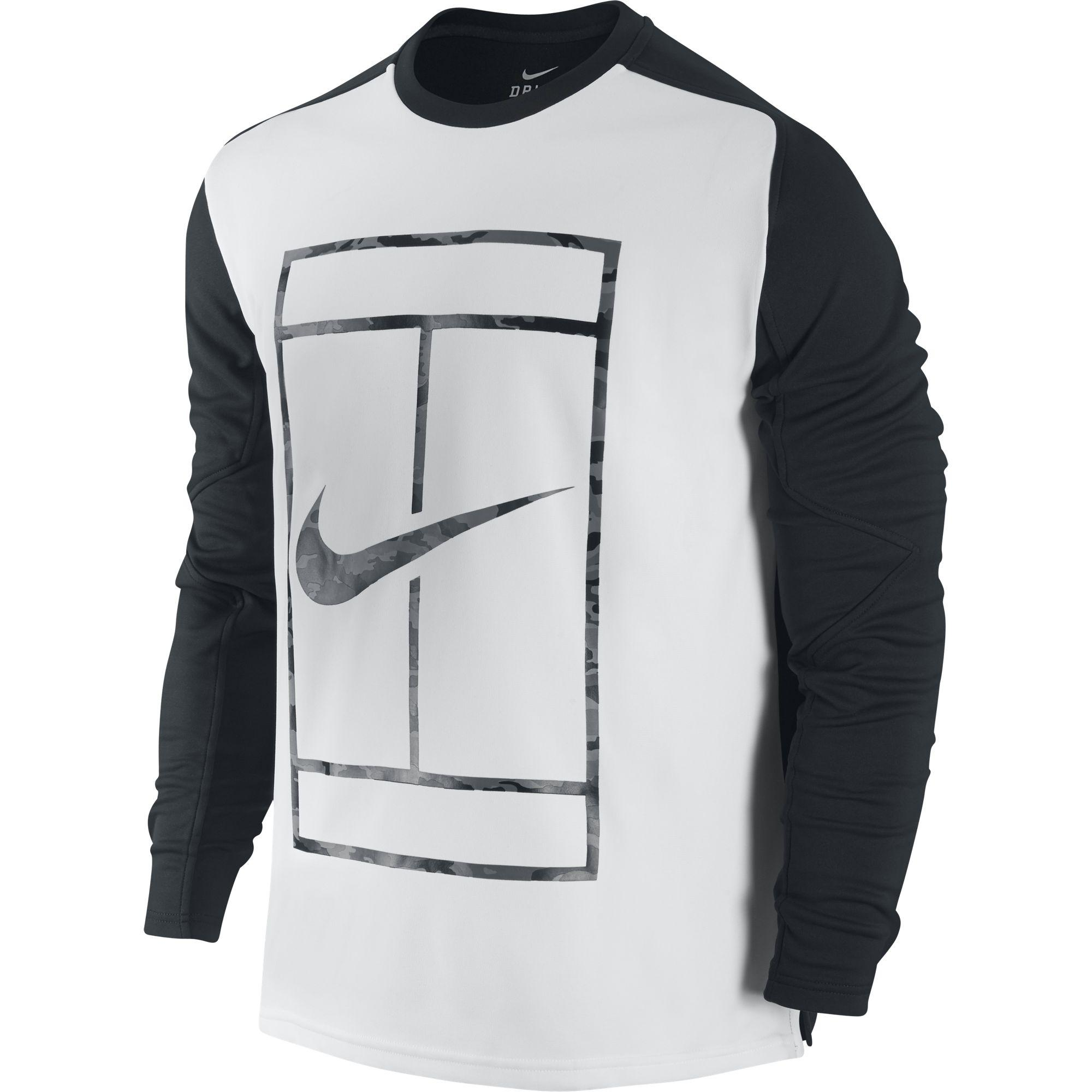 nike tennis long sleeve shirt