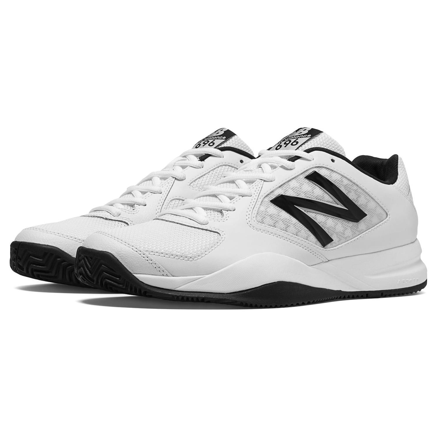 New Balance Mens 696v2 Tennis Shoes - White/Black (D)