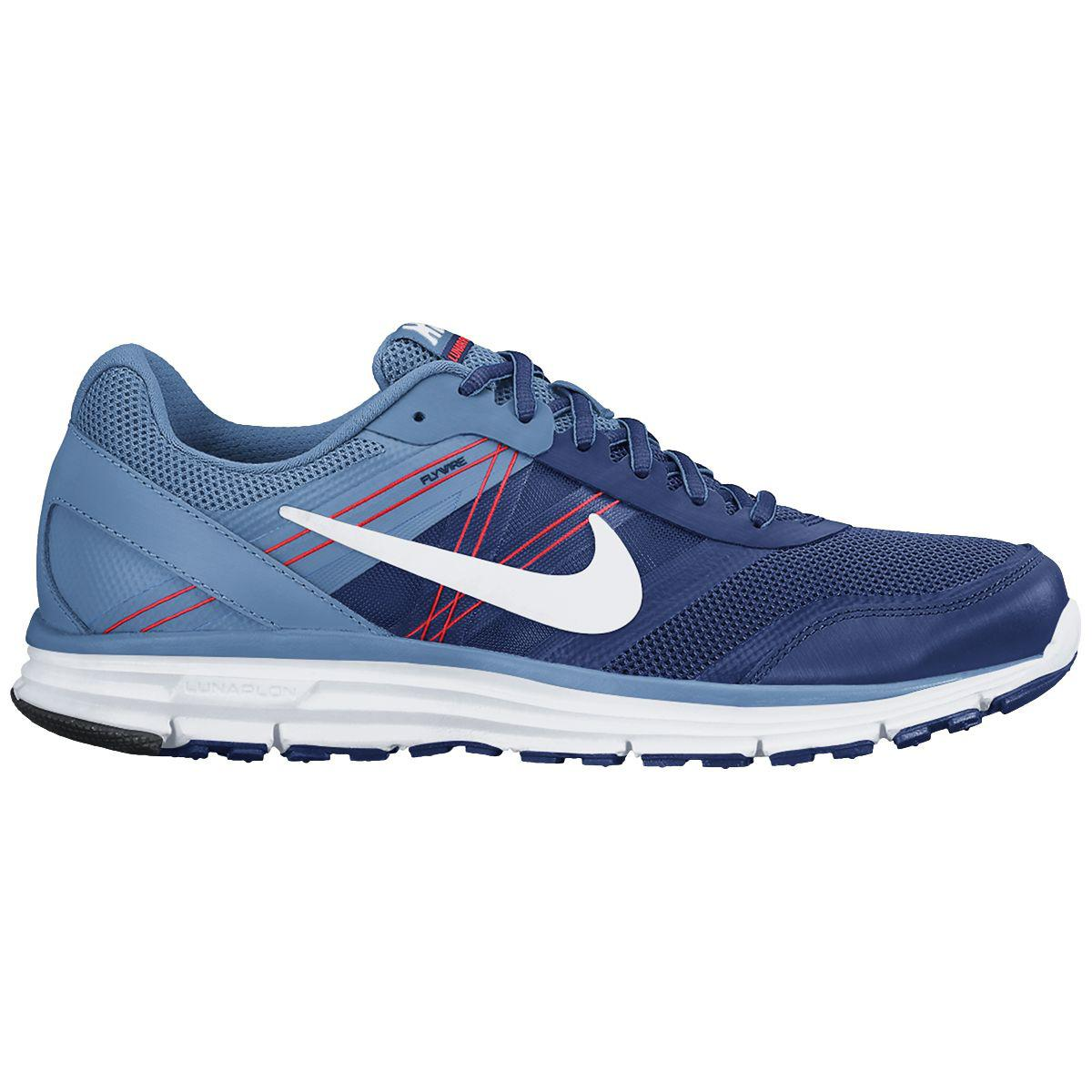 uk availability 622c7 4e399 Nike Mens Lunar Forever 4 Running Shoes - Deep Royal BlueWhite -  Tennisnuts.com