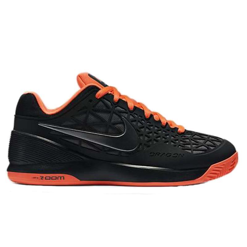 162a0ef591 Nike Womens Zoom Cage 2 Clay Court Tennis Shoes - Black Orange -  Tennisnuts.com