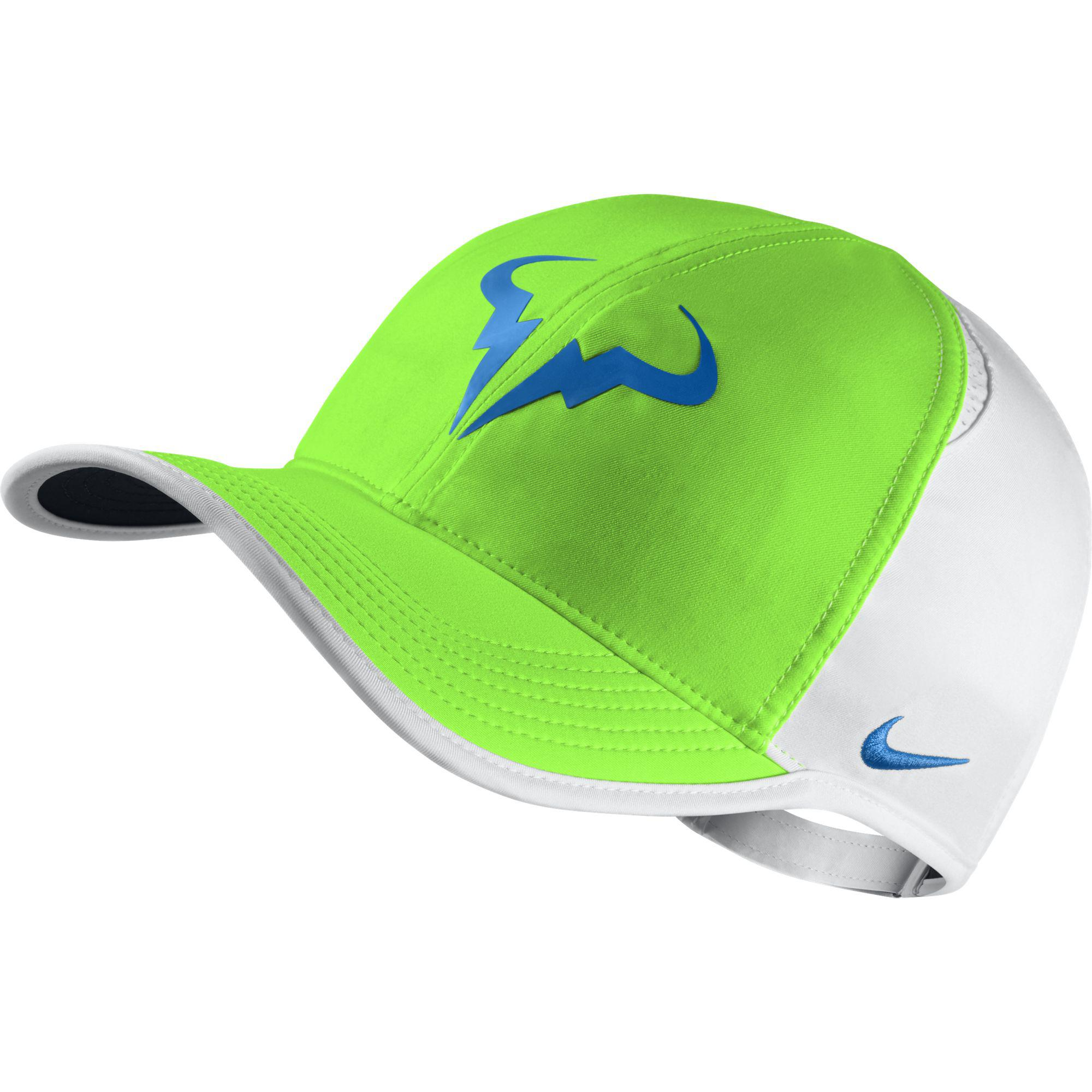 6dc118bef9f62 ... coupon code for nike rafa premier feather light adjustable cap green  pulse white d88fa d187a