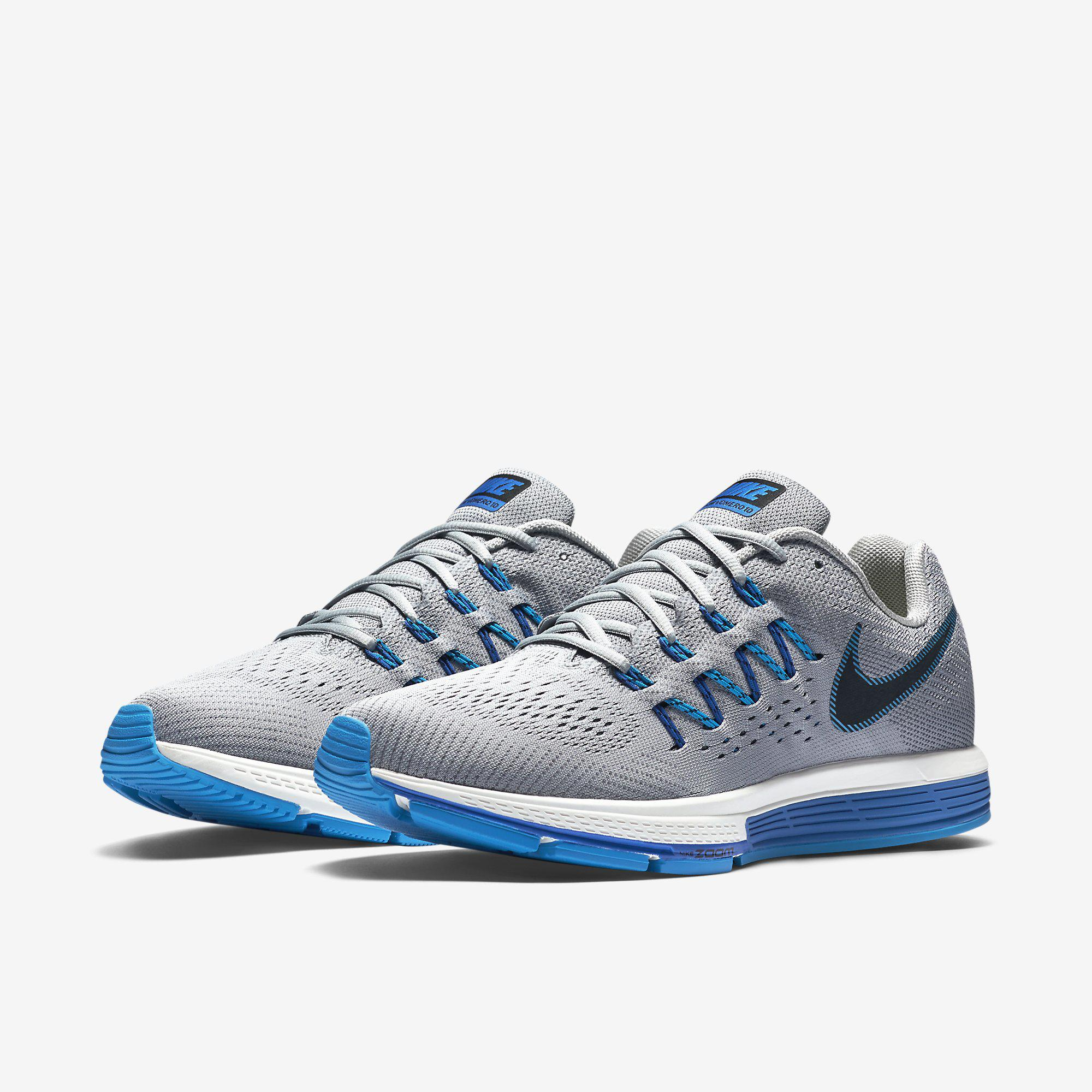 quality design 12509 f4383 Nike Mens Air Zoom Vomero 10 Running Shoes - Wolf Grey Photo Blue