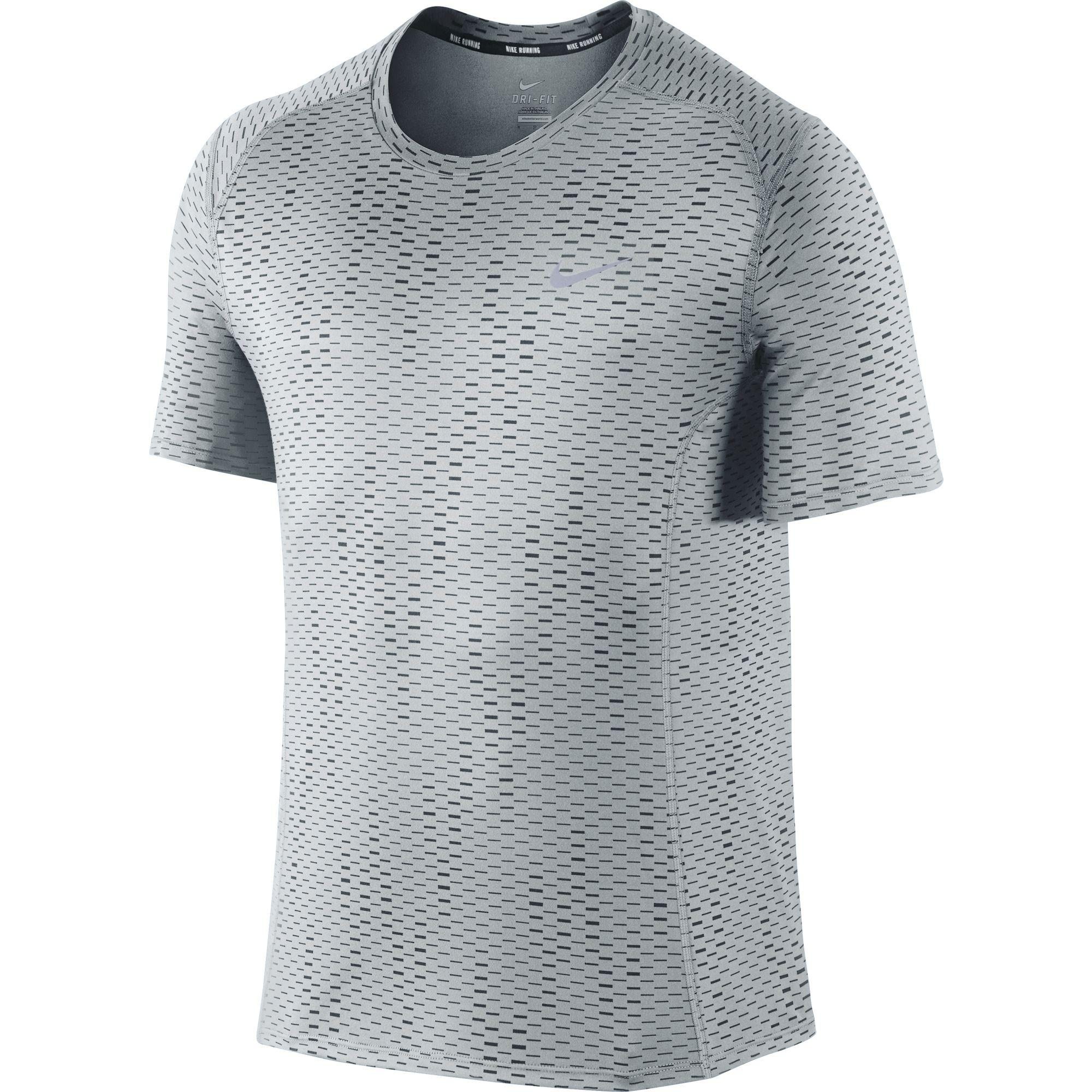 Nike Mens Dri-FIT Miler Fuse Top - Grey