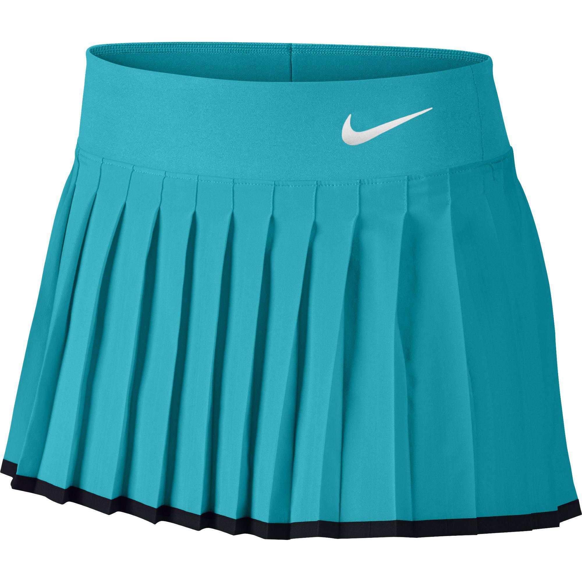 Nike Victory Tennis Skirt Girls Omega Blue/Black/White