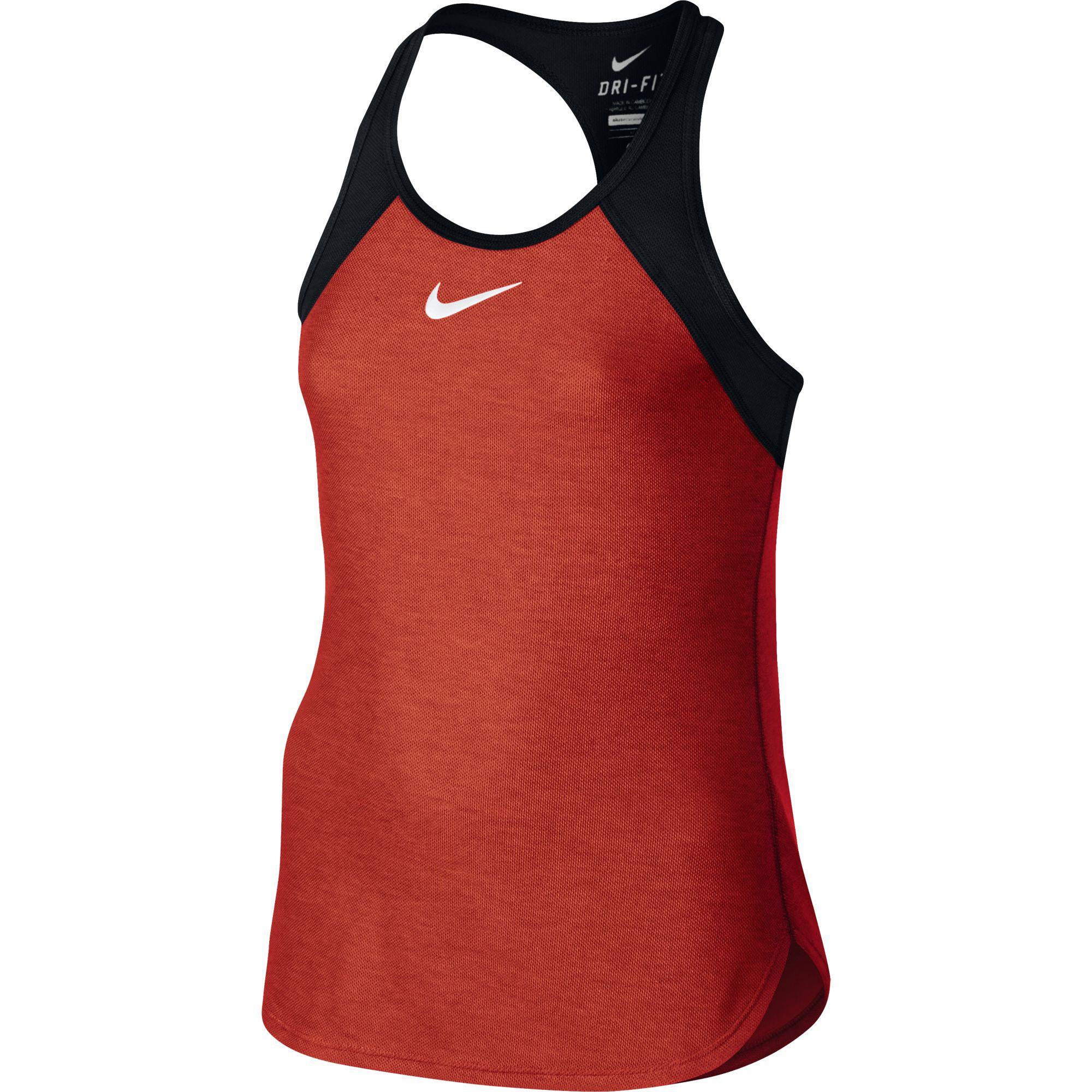 ab31e72b24ef Nike Girls Slam Tank - Light Crimson Black - Tennisnuts.com
