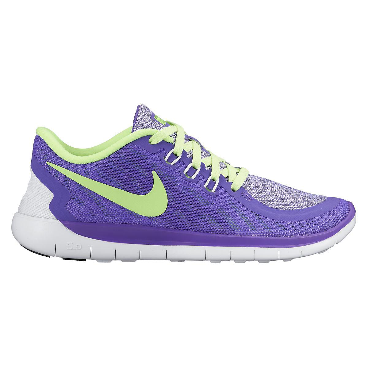 timeless design 5ab2a 9d915 Nike Girls Free 5.0 Running Shoes - Purple Green - Tennisnuts.com