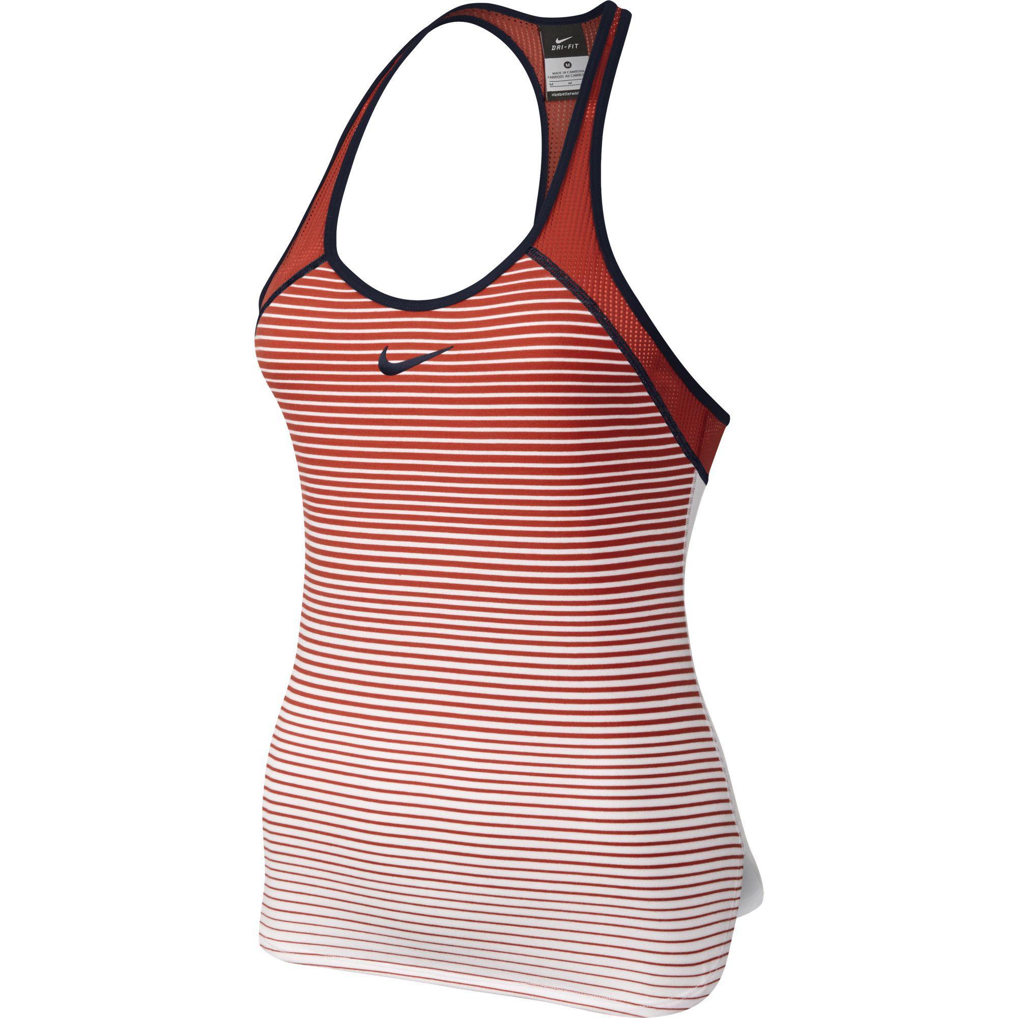 Nike Womens Premier Slam Breathe Tank Top - Light Crimson/Obsidian -  Tennisnuts.com