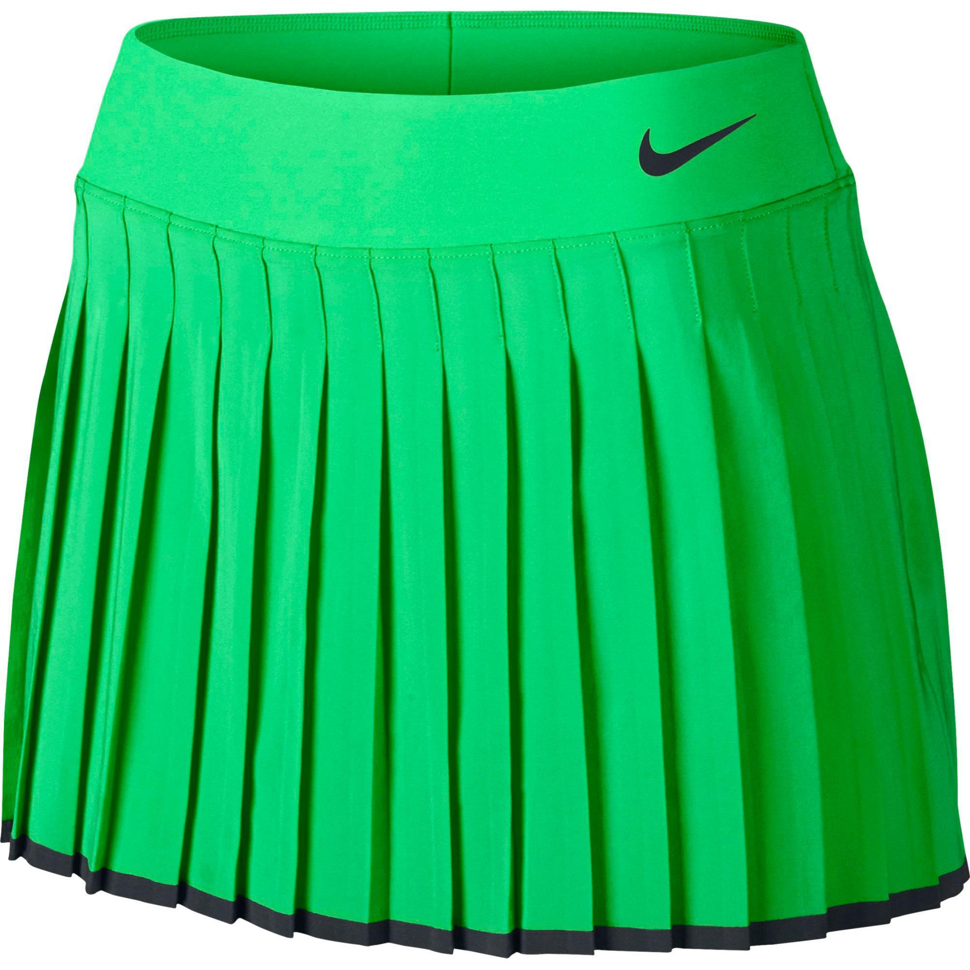 284dc0393 Nike Womens Victory Tennis Skort - Electro Green - Tennisnuts.com