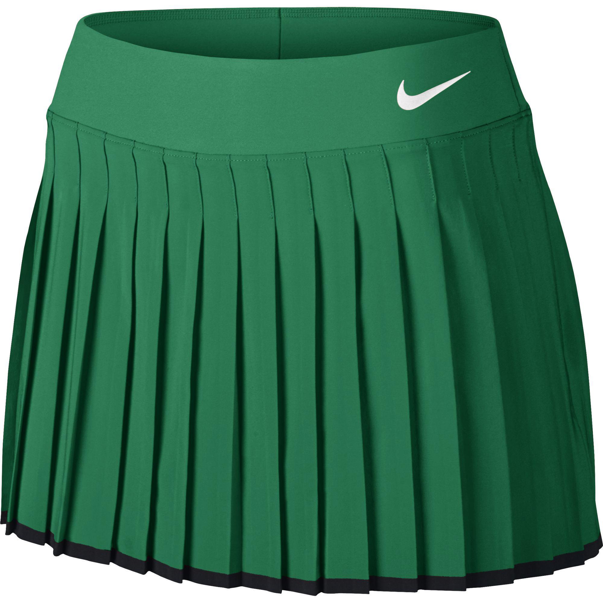 Nike Womens Victory Tennis Skort [Regular/Long] - Lucid Green/Black