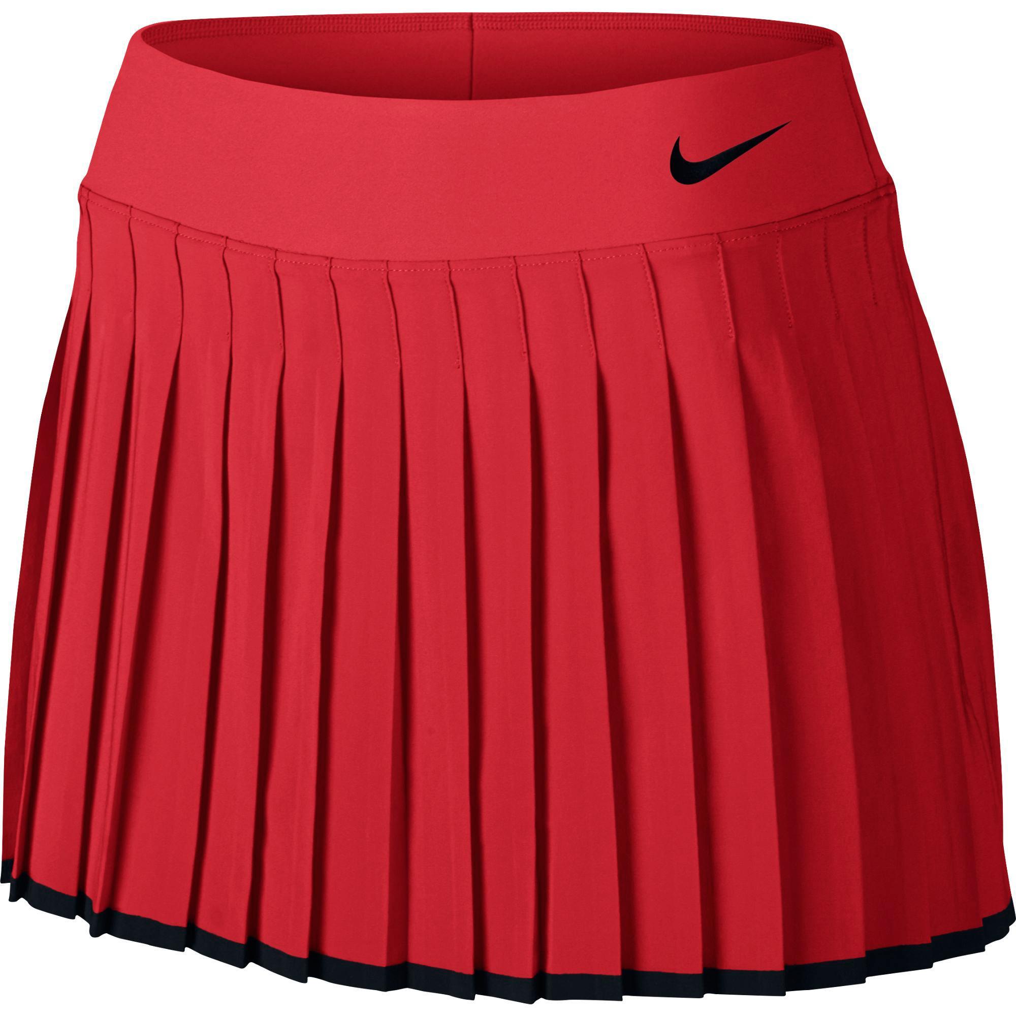 8b0ff77a0 Nike Womens Victory Tennis Skort - Action Red/Black - Tennisnuts.com