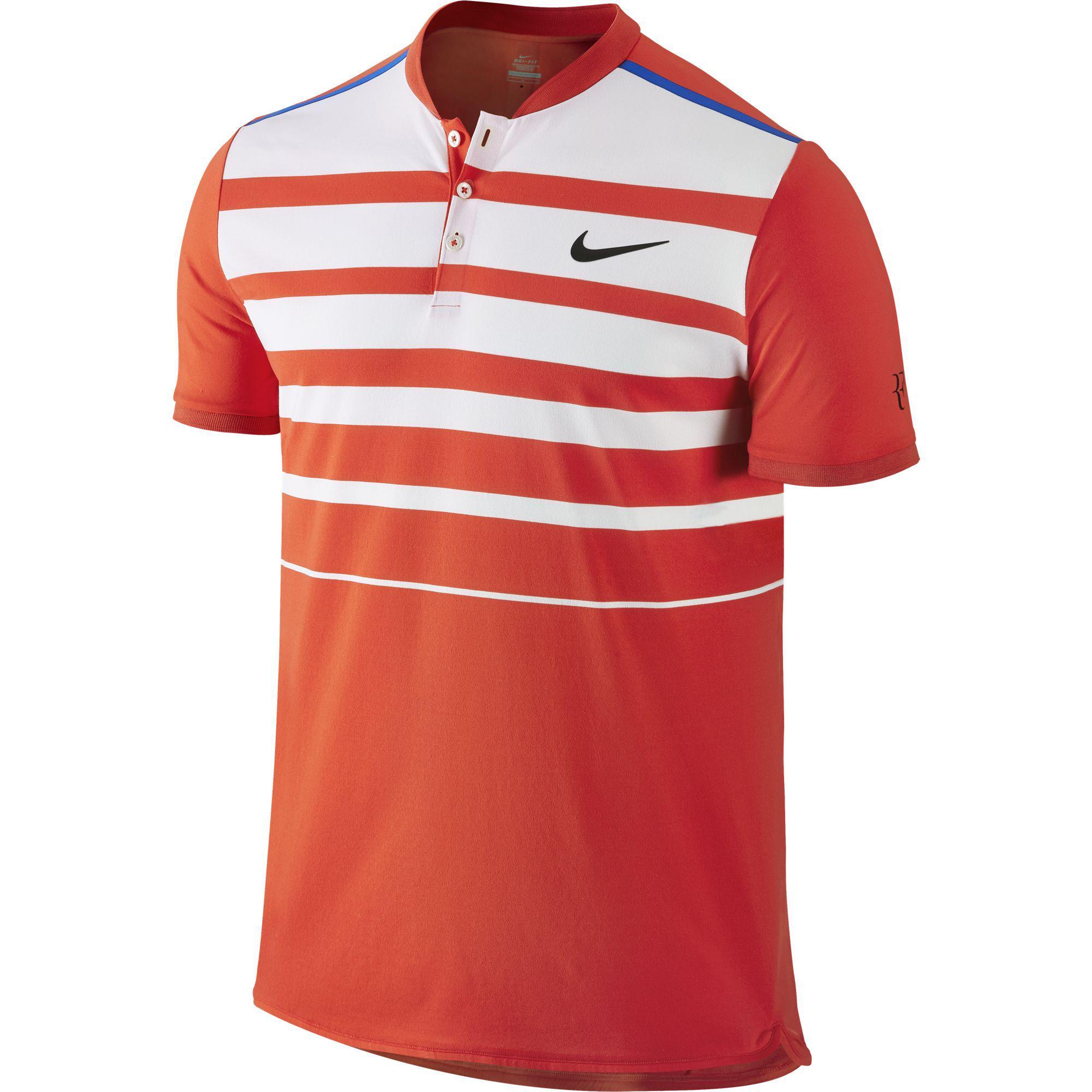 Nike Mens Premier RF Polo - Light Crimson Photo Blue - Tennisnuts.com 4e00423a8ed4