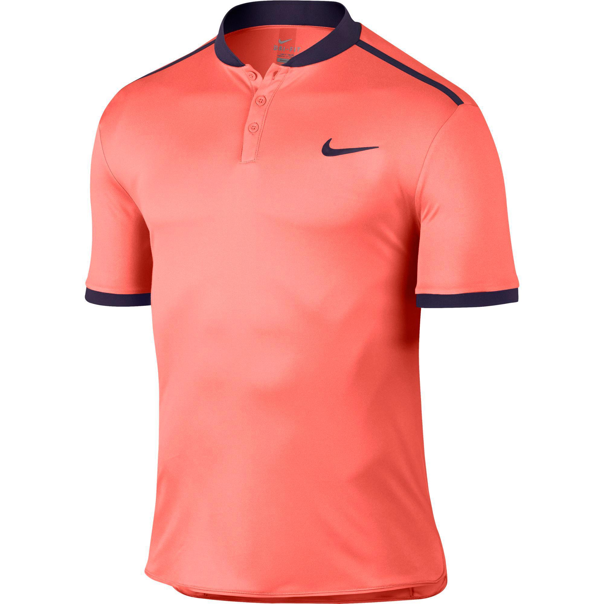 Nike Mens Advantage Premier Polo - Bright Mango/Purple