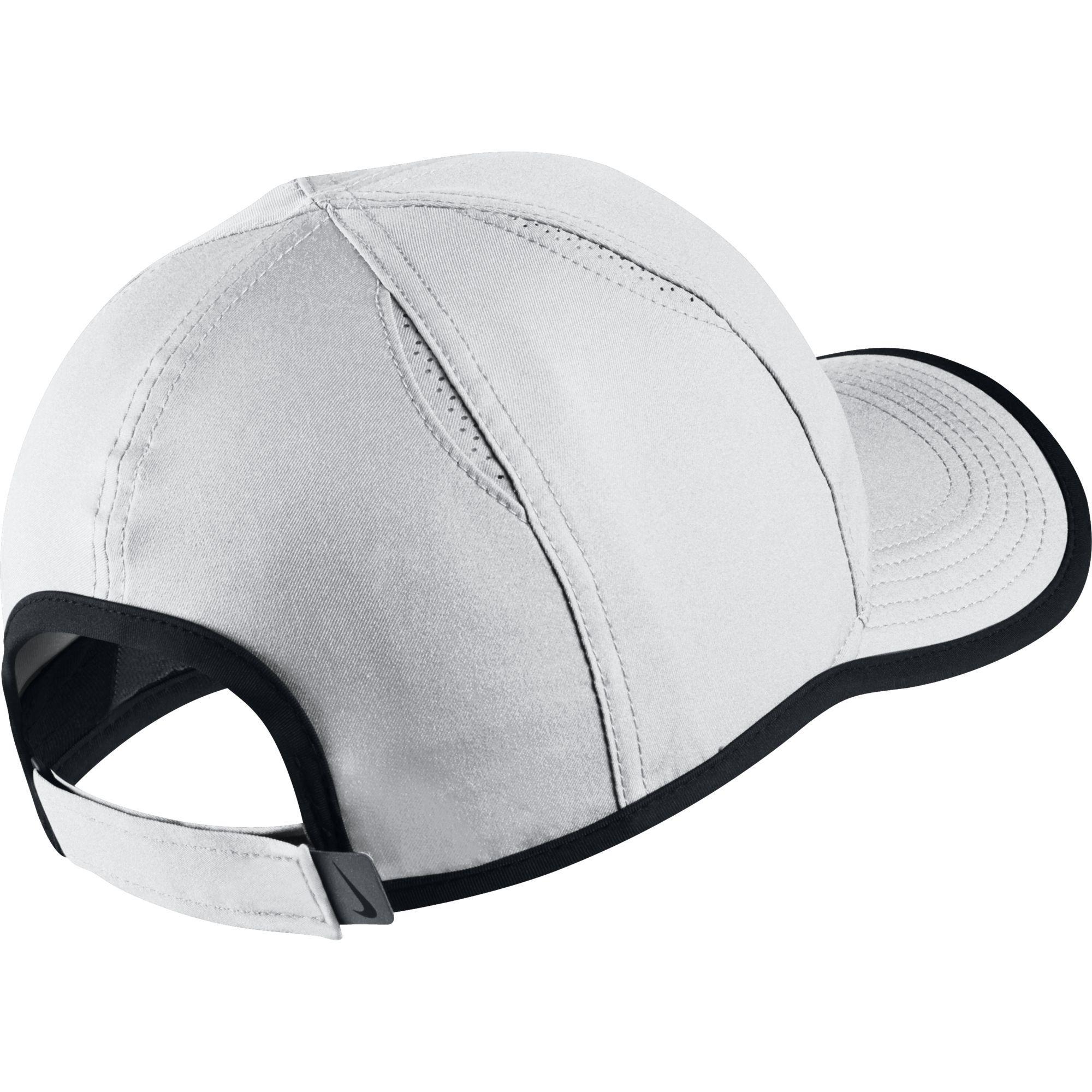 4d3f0b3f9f8 Nike Kids Featherlight Cap - White Black - Tennisnuts.com