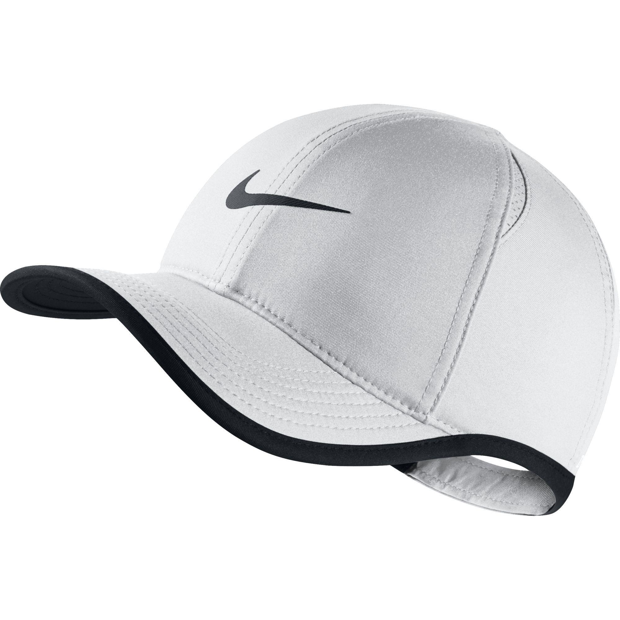 465603245e9 Nike Kids Featherlight Cap - White Black - Tennisnuts.com