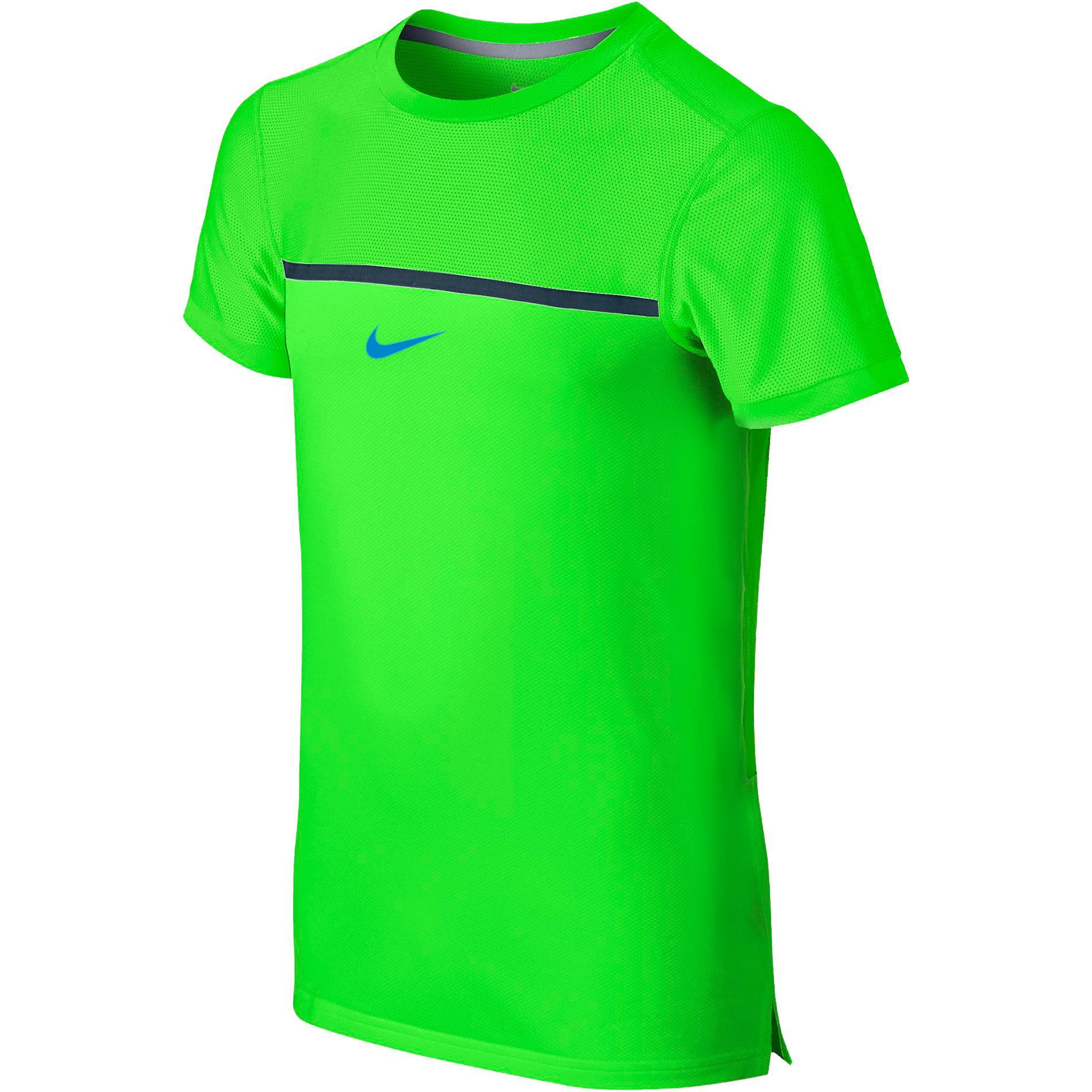 size 40 5fe97 498ed Nike Boys Challenger Premier Rafa Crew - Green - Tennisnuts.
