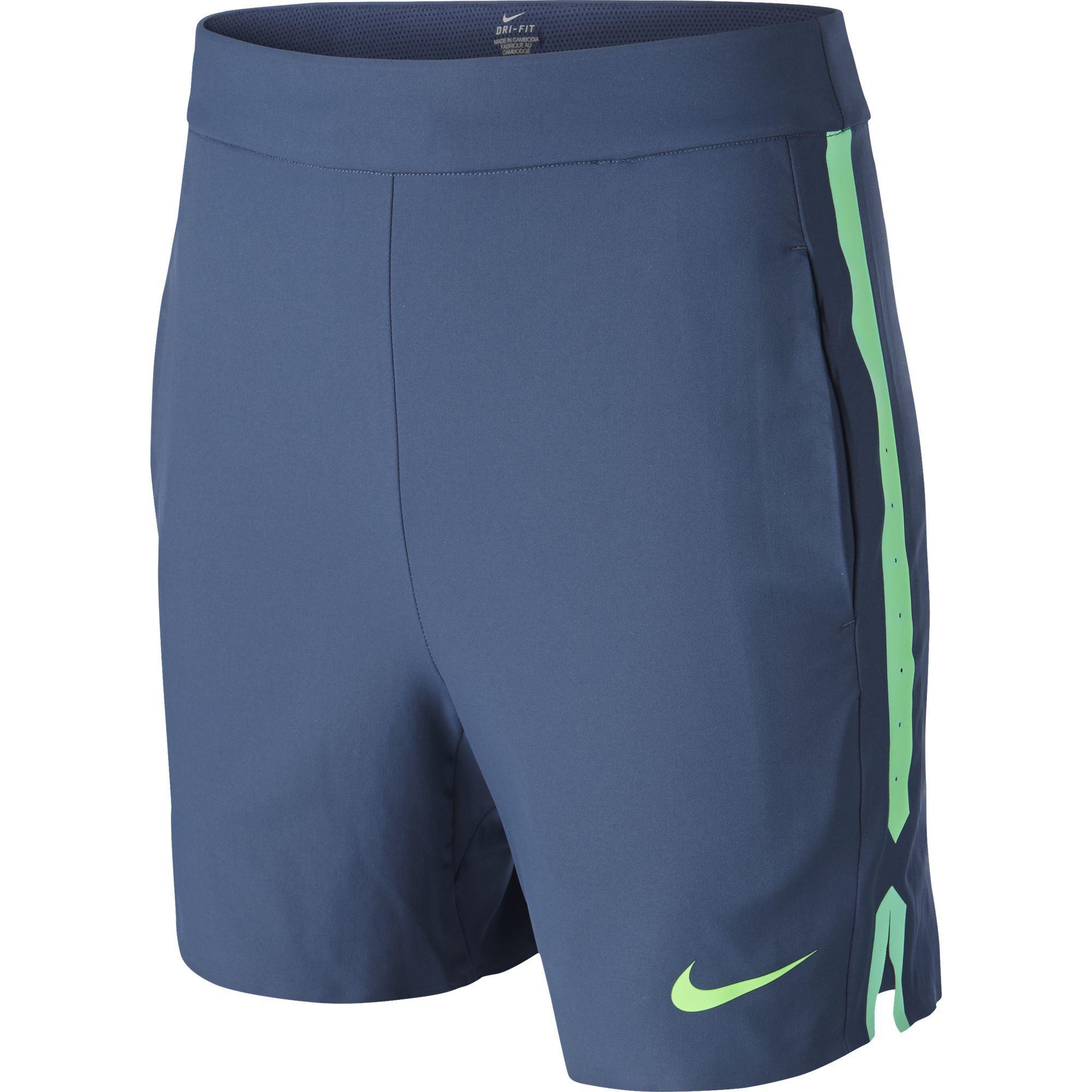 pensión pedazo Rechazo  Nike Boys Gladiator Shorts - Squadron Blue/Green Strike - Tennisnuts.com