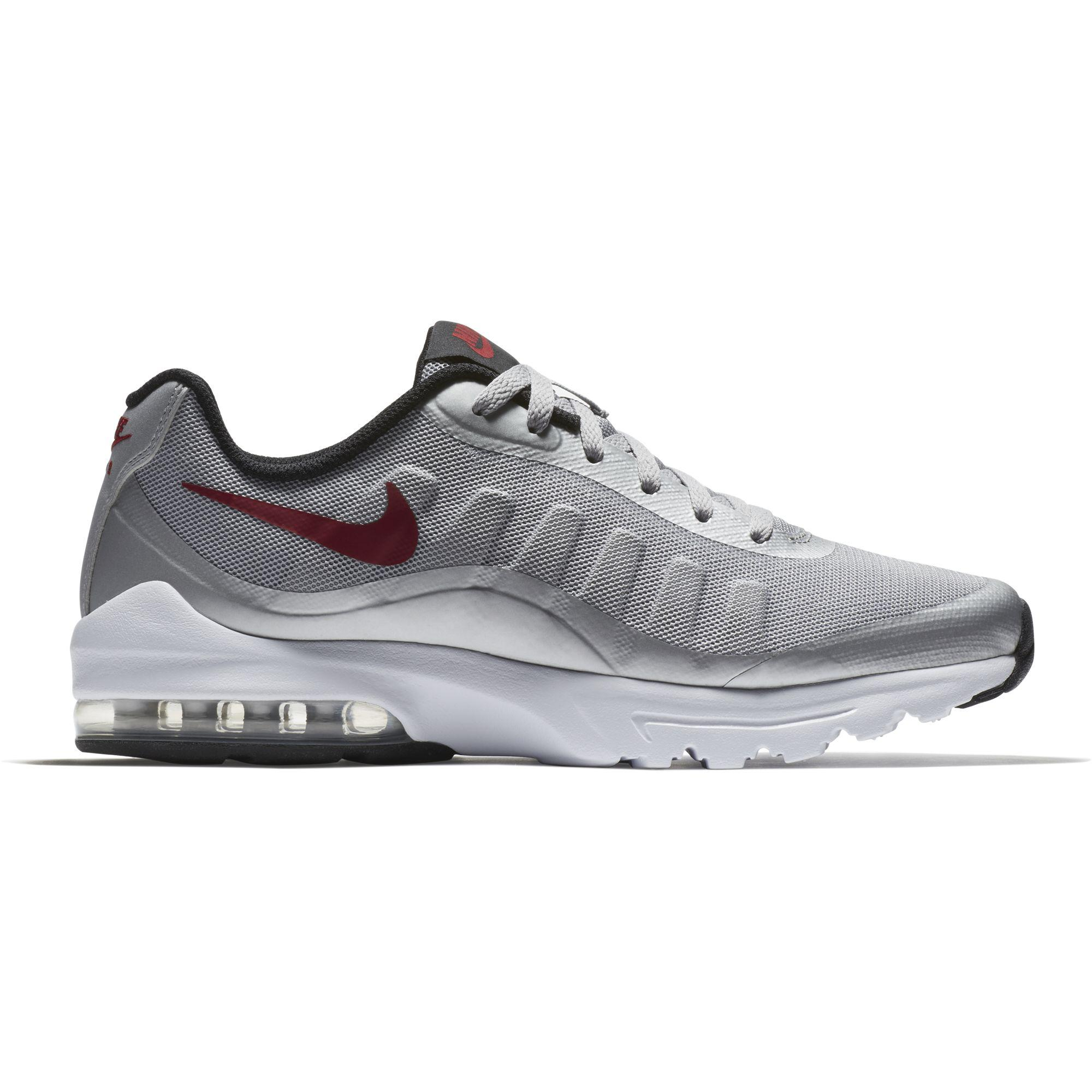 quality design 1d934 6a786 Nike Mens Air Max Invigor Running Shoes - GreyRedBlack - Tennisnuts.com