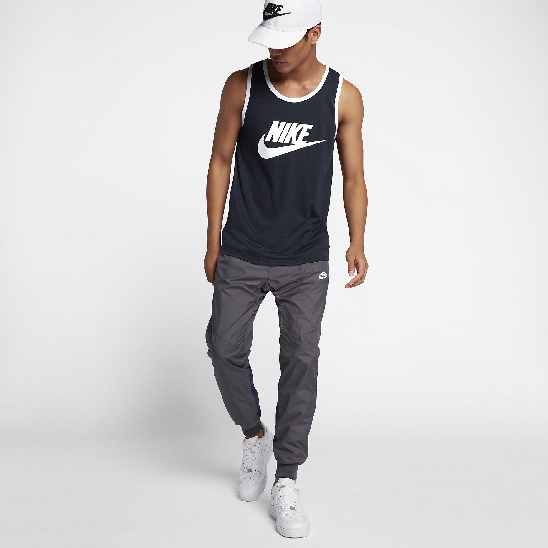 0caf2f827a6f4 Nike Mens Sportswear Ace Logo Tank Top - Obsidian White - Tennisnuts.com