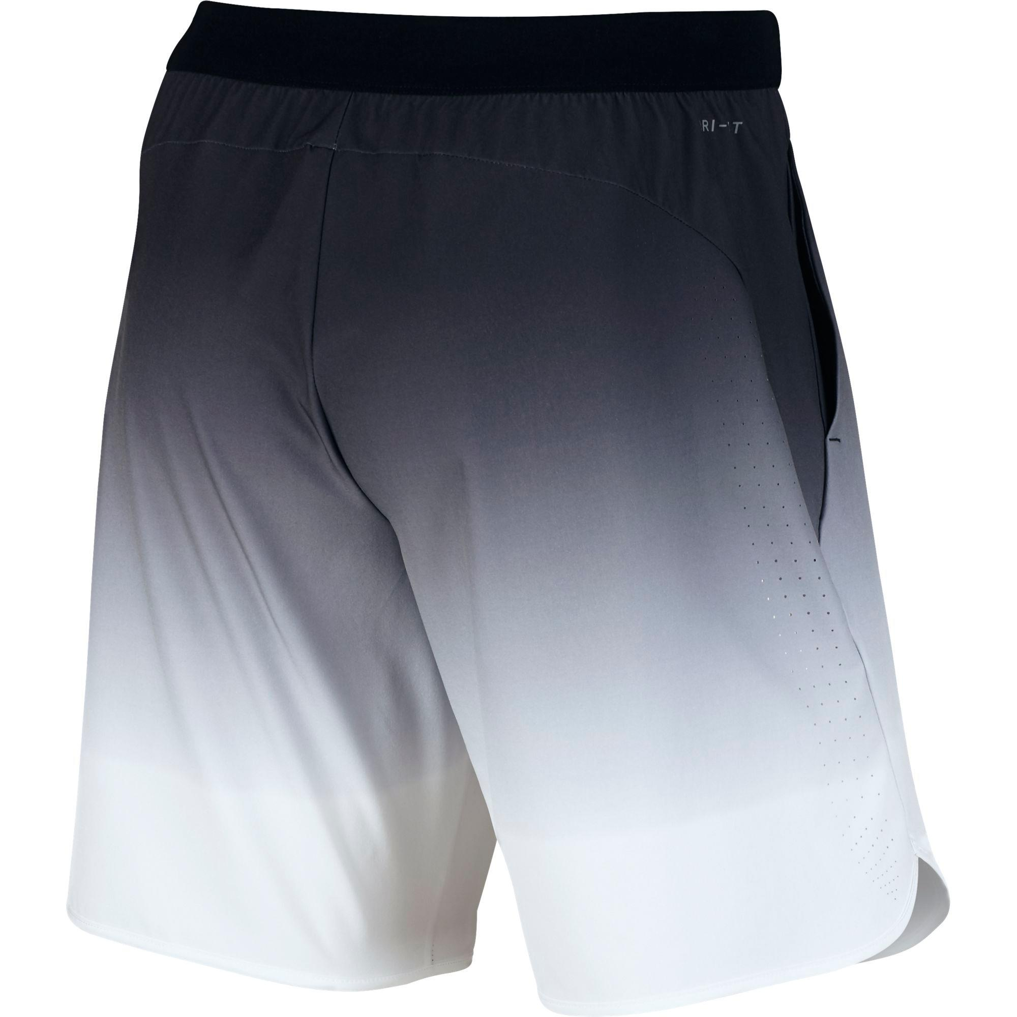 Nike Mens Ace Gladiator 9 Inch Shorts - Black/White