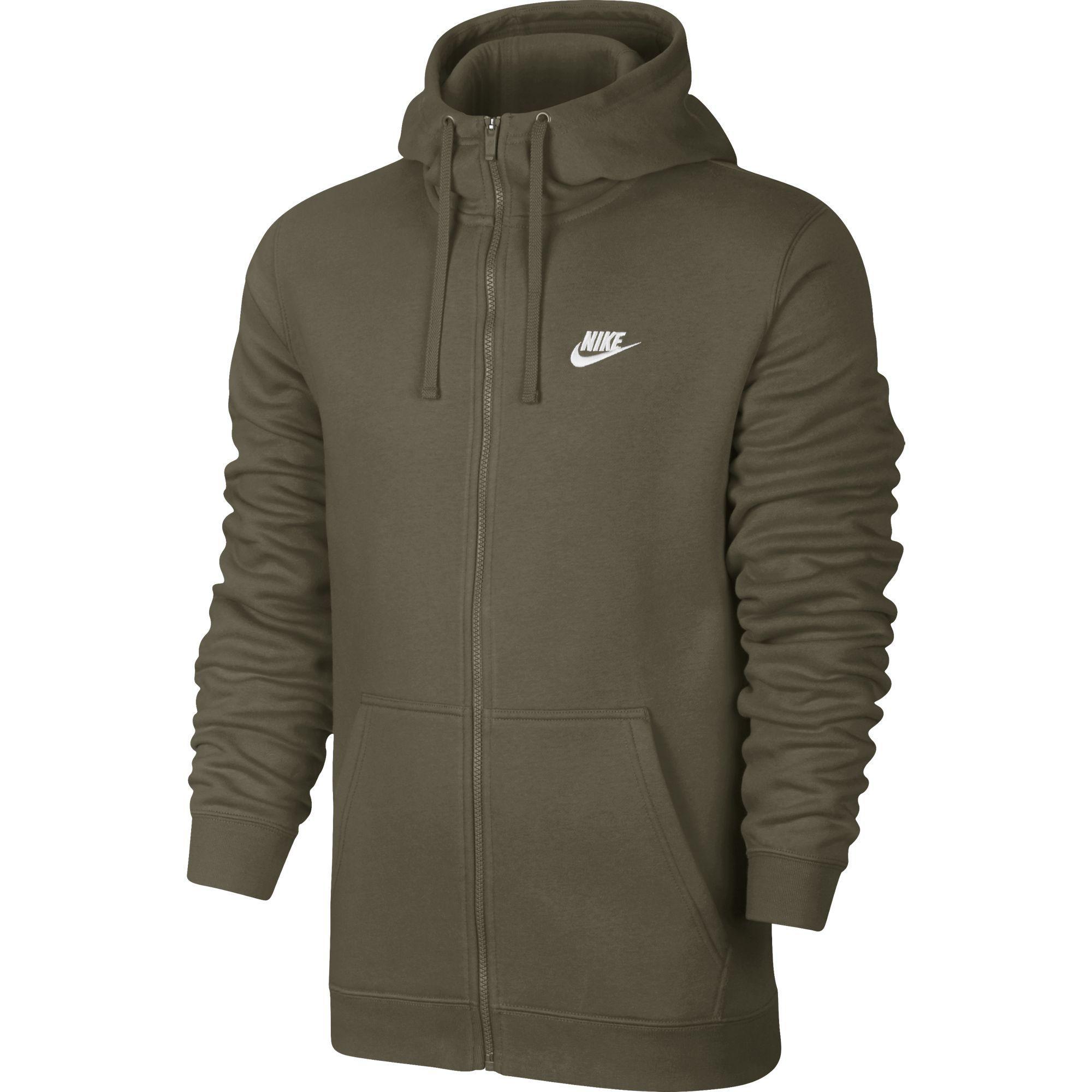 2a3bce470b0e Nike Mens Sportswear Full-Zip Hoodie - Medium Olive - Tennisnuts.com