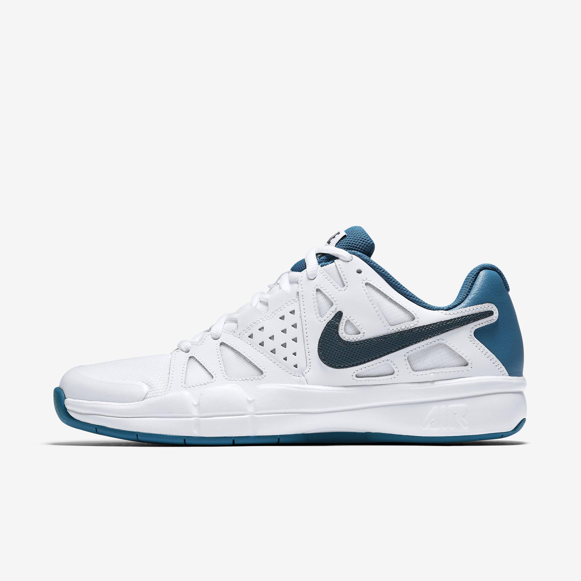 Nike Mens Air Vapor Advantage Carpet Tennis Shoes White