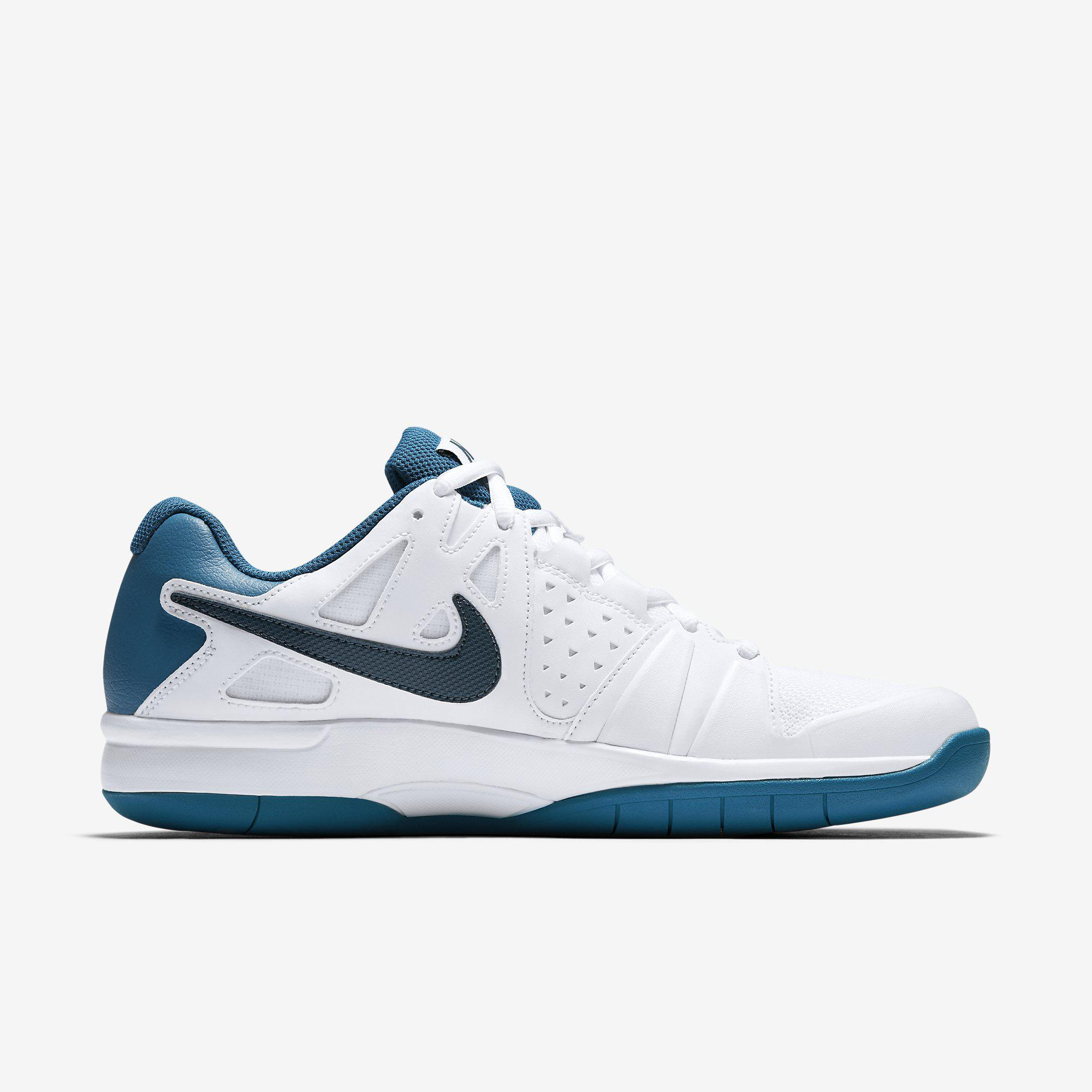 super popular ac132 eb8b2 Nike Mens Air Vapor Advantage Carpet Tennis Shoes - White Blue
