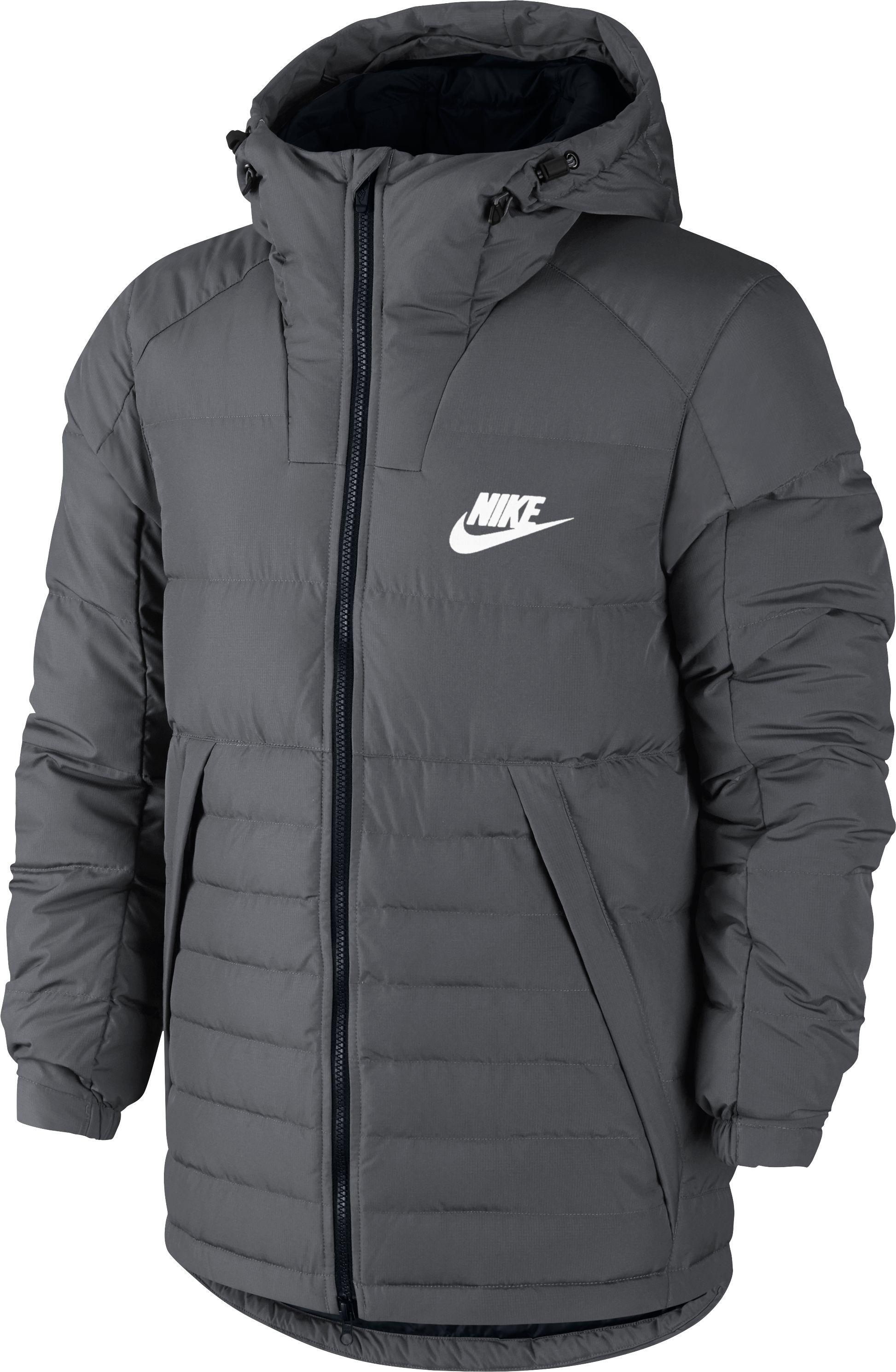ff19b469 Nike Unisex Sportwear Down Fill HD Jacket - Grey - Tennisnuts.com