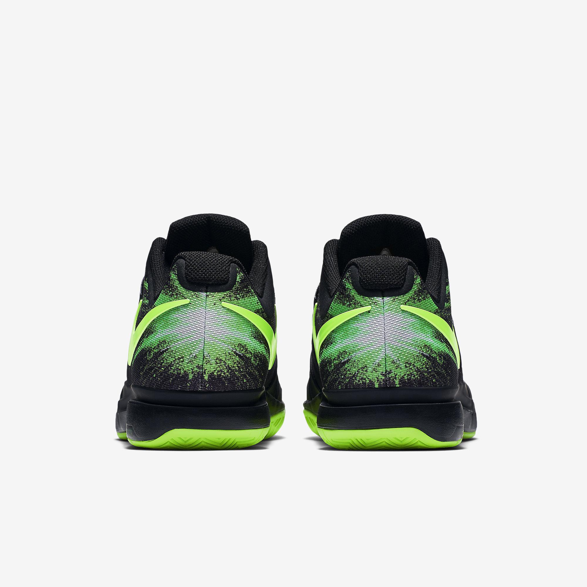 cheap for discount c7d58 e3e7b ... Nike Mens Zoom Vapor 9.5 Tour QS Tennis Shoes - Black Green ...