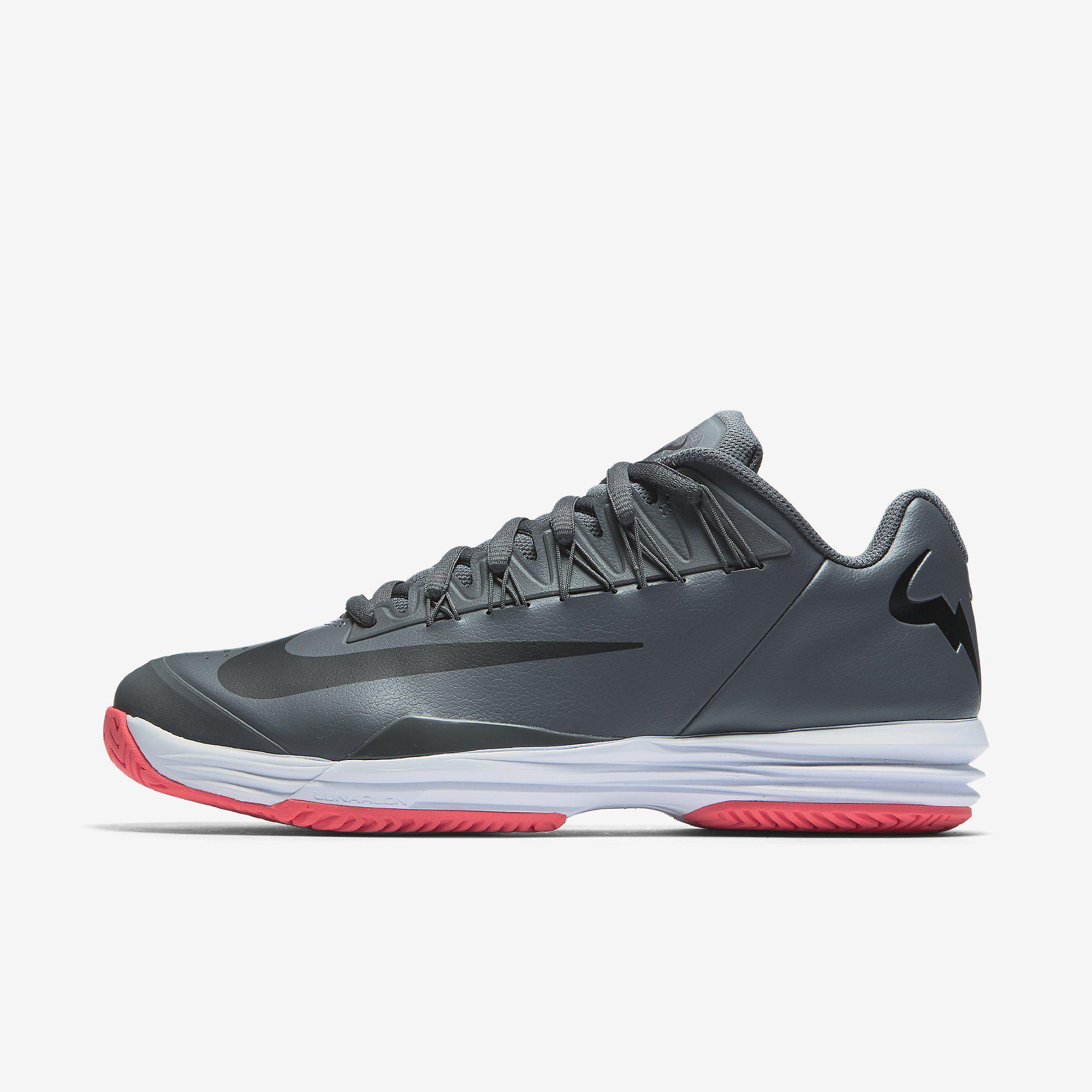 Nike Mens Lunar Ballistec 1.5 Legend Rafa Tennis Shoes - Dark Grey