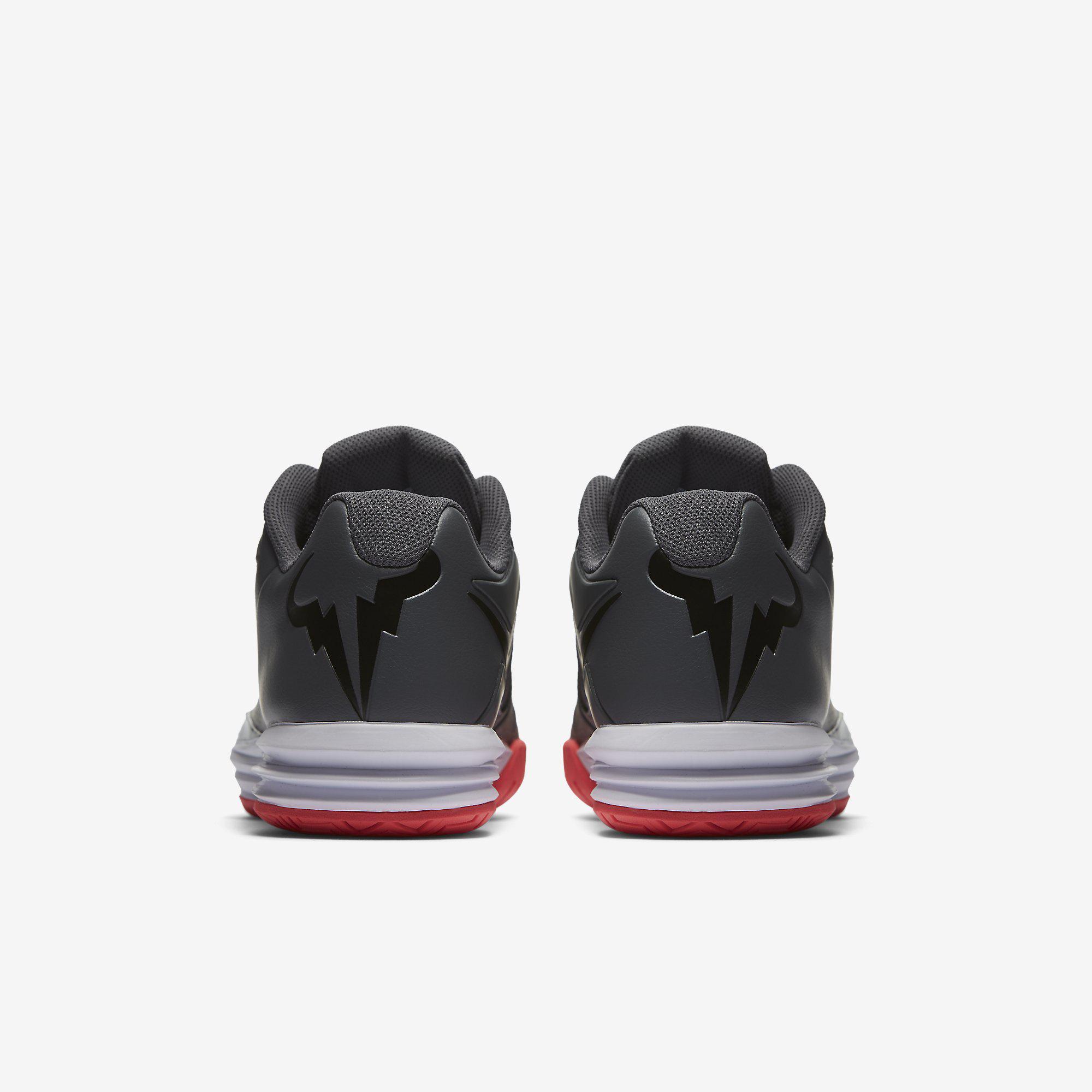 7e48887156da Nike Mens Lunar Ballistec 1.5 Legend Rafa Tennis Shoes - Dark Grey ...