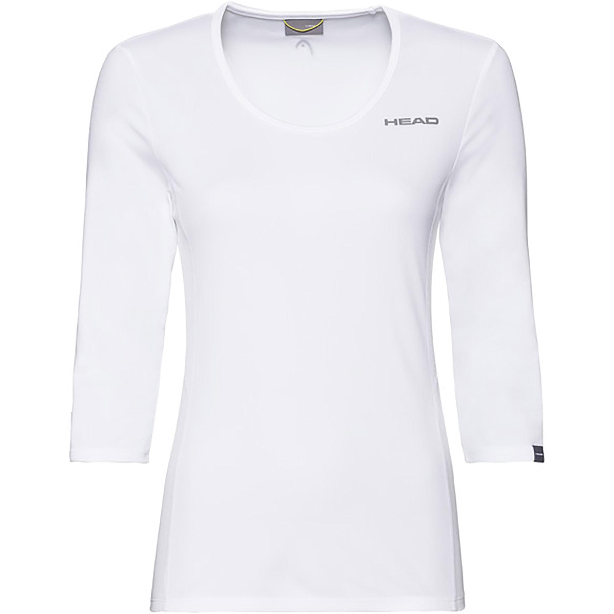 white 3/4 sleeve shirt