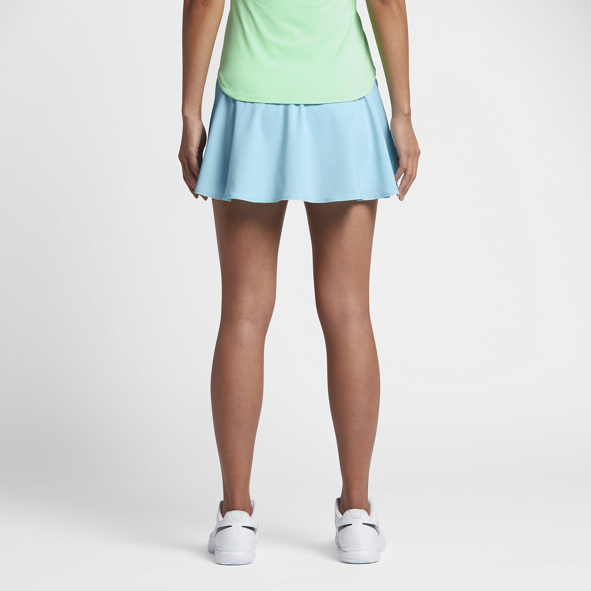 1ad99566863e Nike Womens Court Pure Skort - Still Blue - Tennisnuts.com