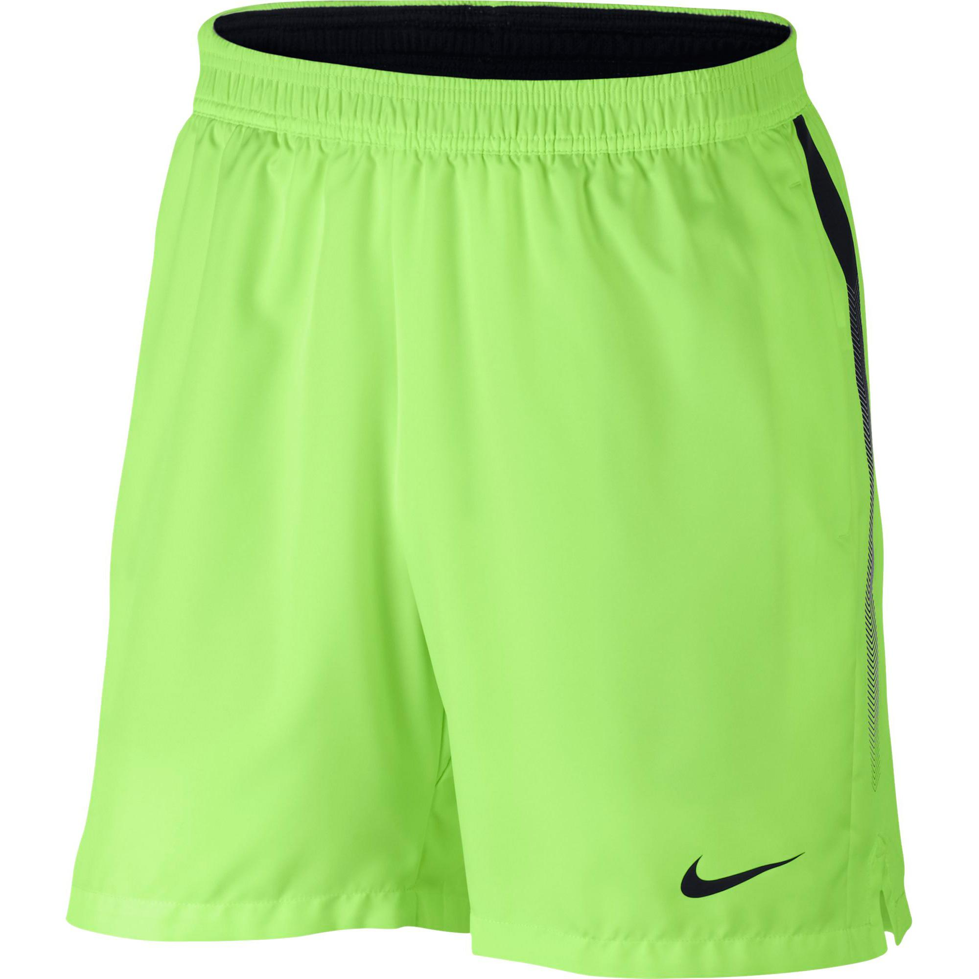 Nike mens dry 7 inch tennis shorts ghost green black for Mens dress shirts outlet